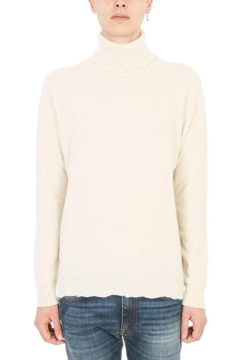 Mauro Grifoni Dolcevita White Wool Sweater