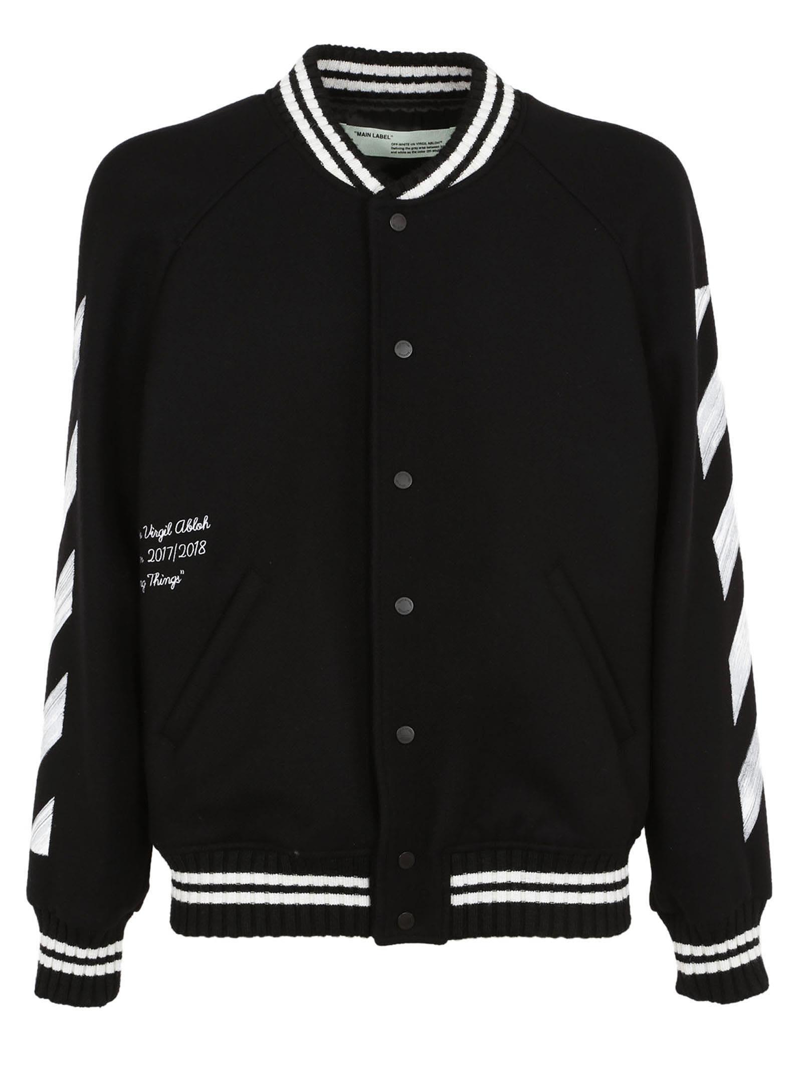 Off-white Diag Brushed Varsity Jacket