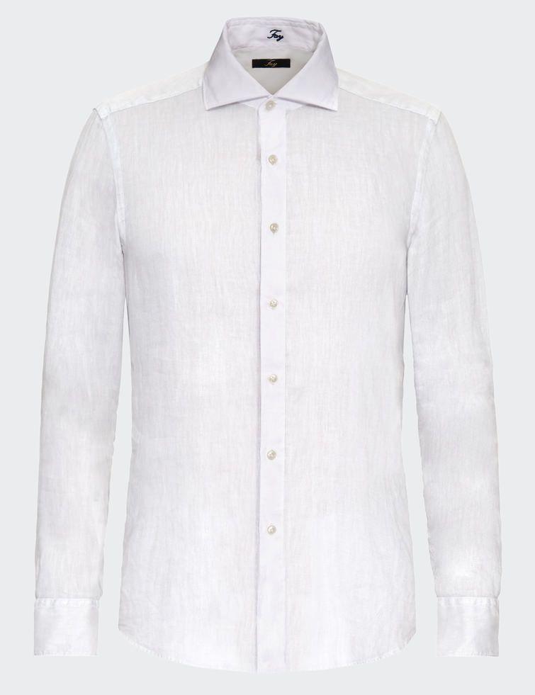 Cutaway Collar Linen Shirt