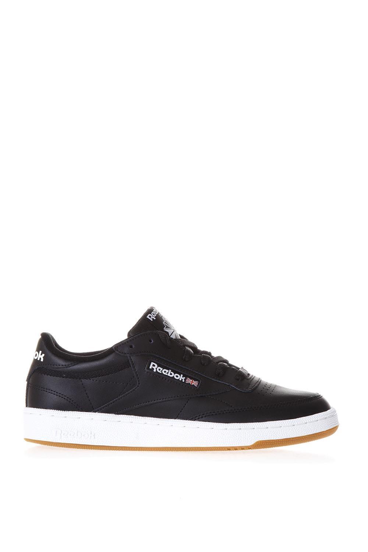 Reebok Club C 85 Black Leather Sneakers