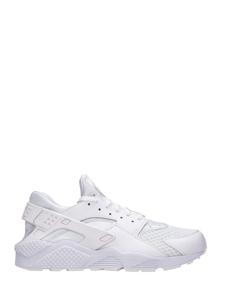 Nike Huarache White Fabric Sneaker