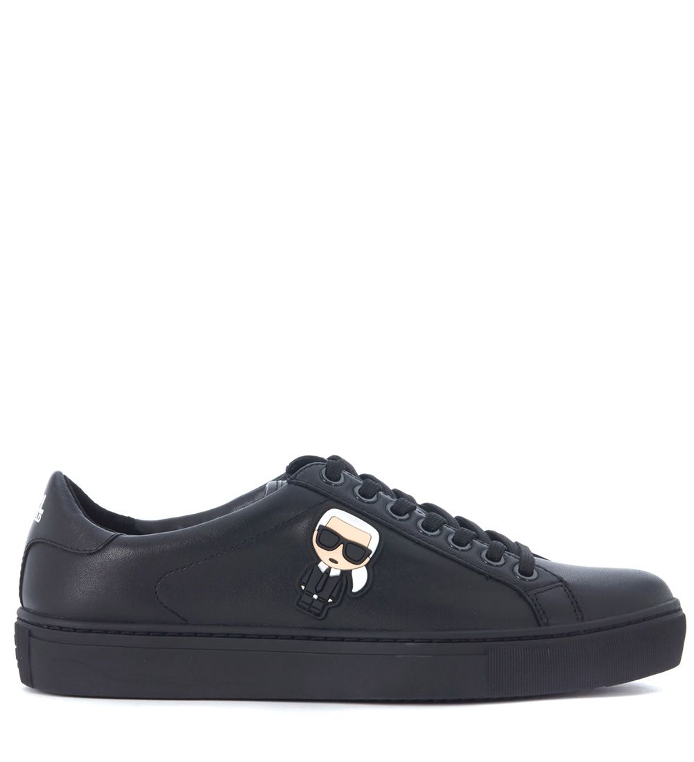 Karl Lagerfeld Black Leather Sneaker