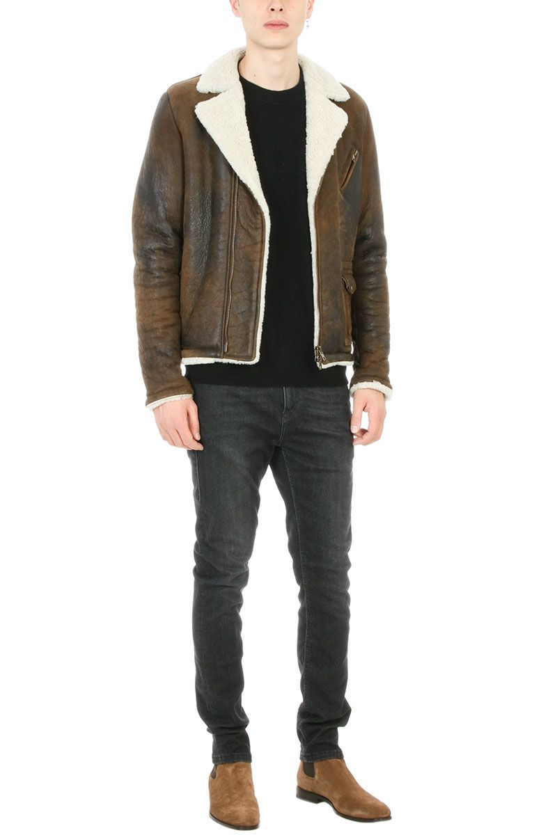 Salvatore Santoro - Salvatore Santoro Beige Leather And Shearling ...