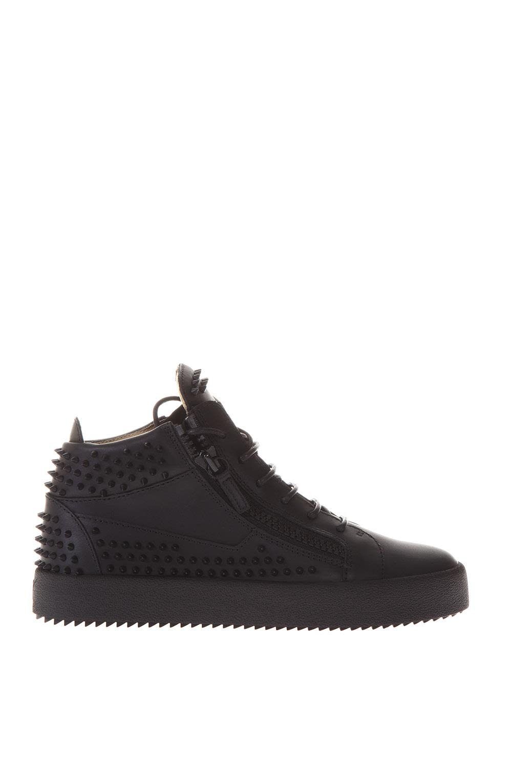 Giuseppe Zanotti Studded Leather High-top Sneakers