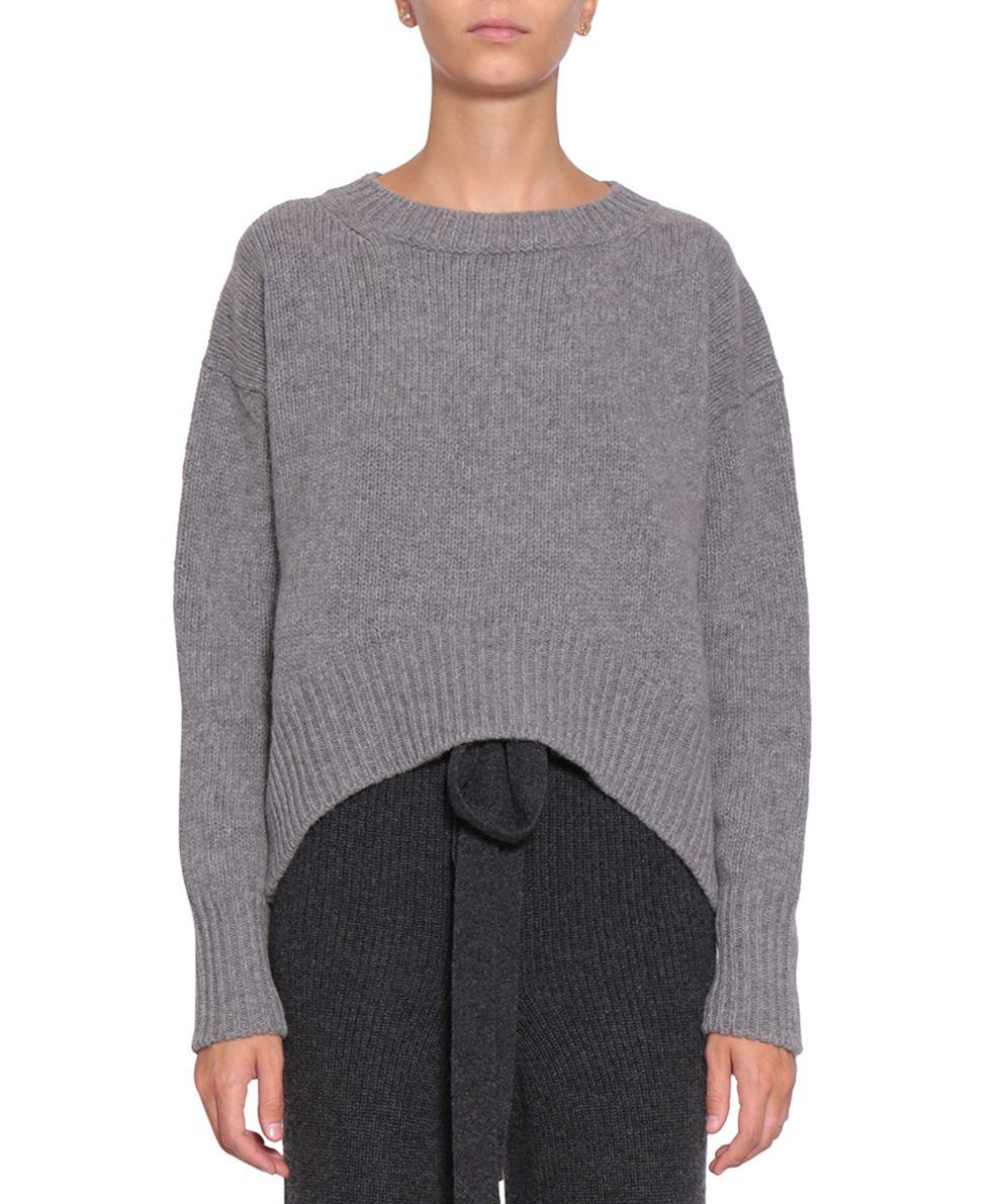 Roberto Collina - Roberto Collina Wool Cropped Sweater - Grigio ...