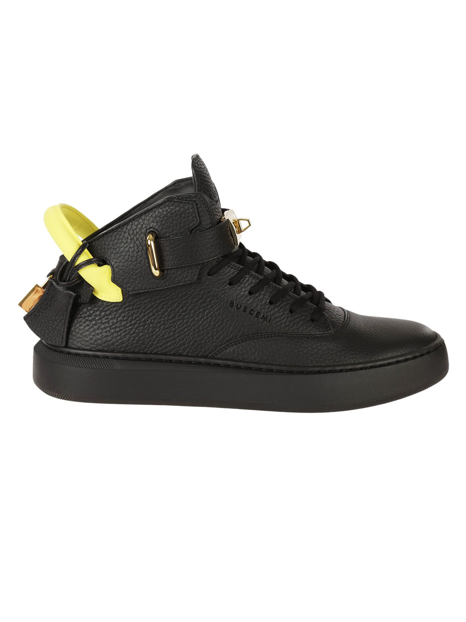 Buscemi Neon Detail Hi-top Sneakers