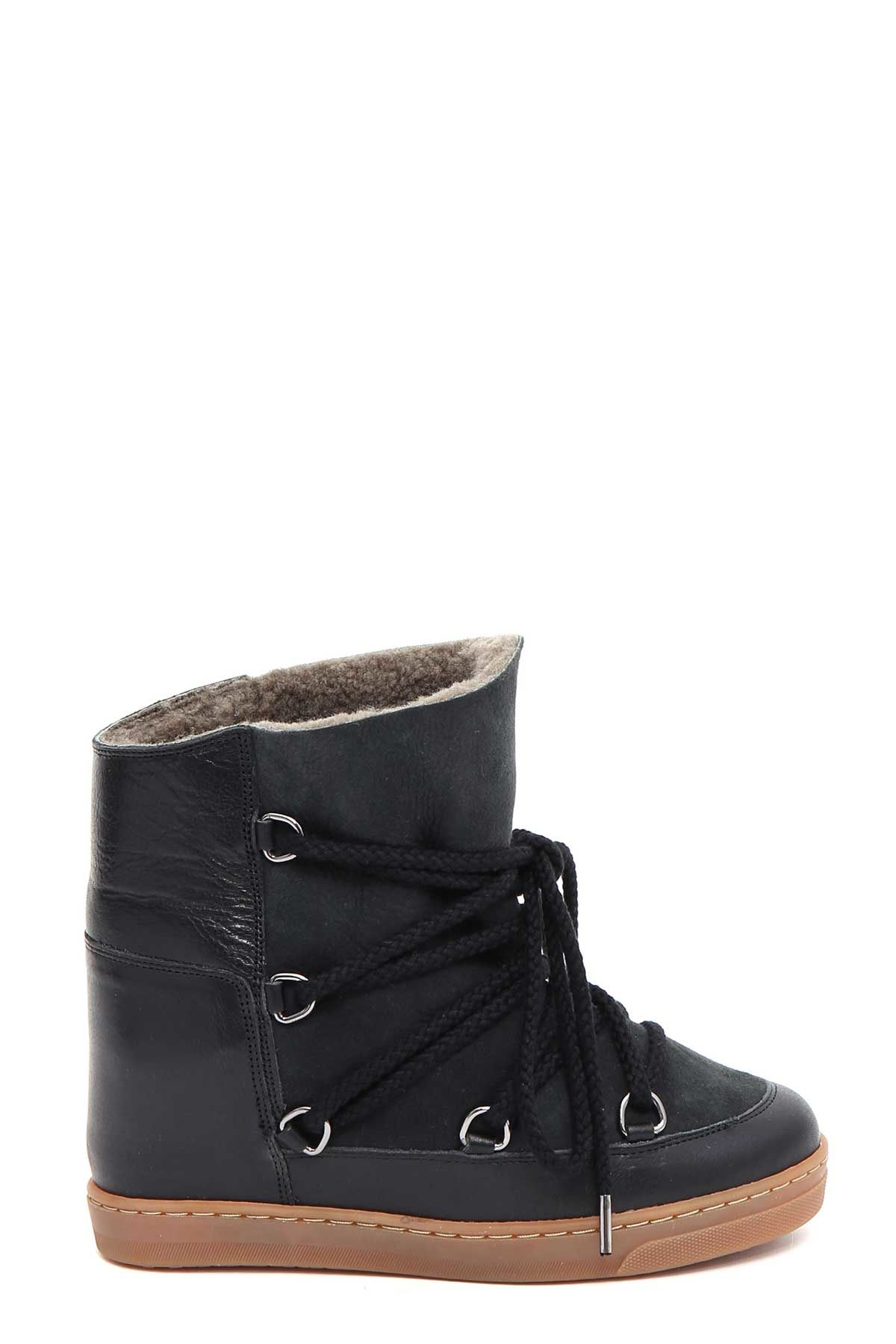 isabel marant isabel marant 39 nowles 39 snow boot sneaker nero women 39 s boots italist. Black Bedroom Furniture Sets. Home Design Ideas