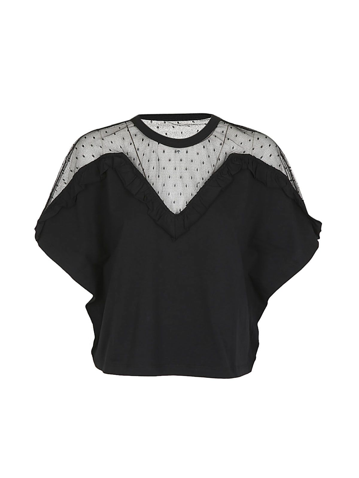 Red Valentino Lace Panel Blouse