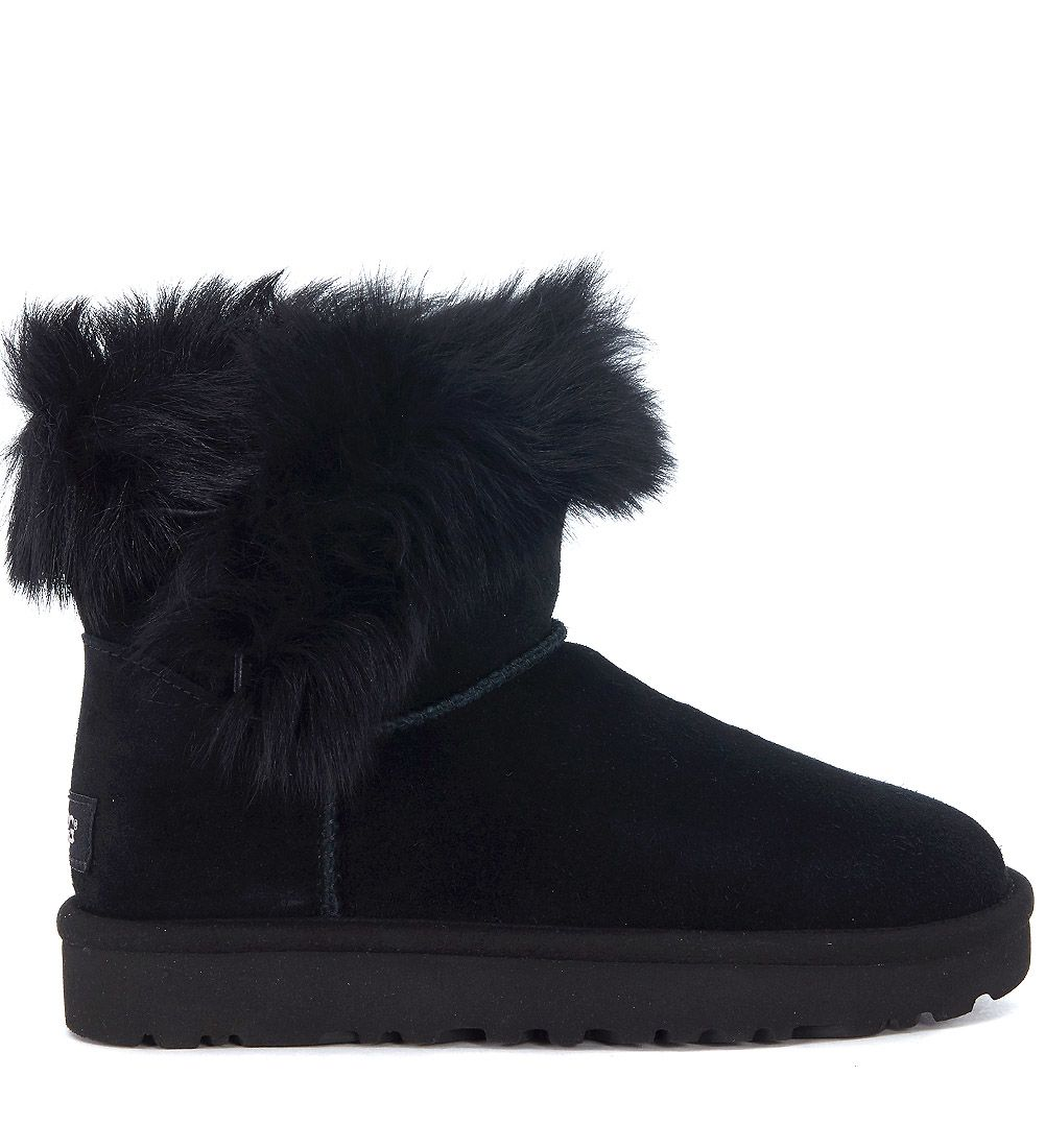 Ugg Milla Ankle Boots In Suede And Tuscan Sheepskin Leather