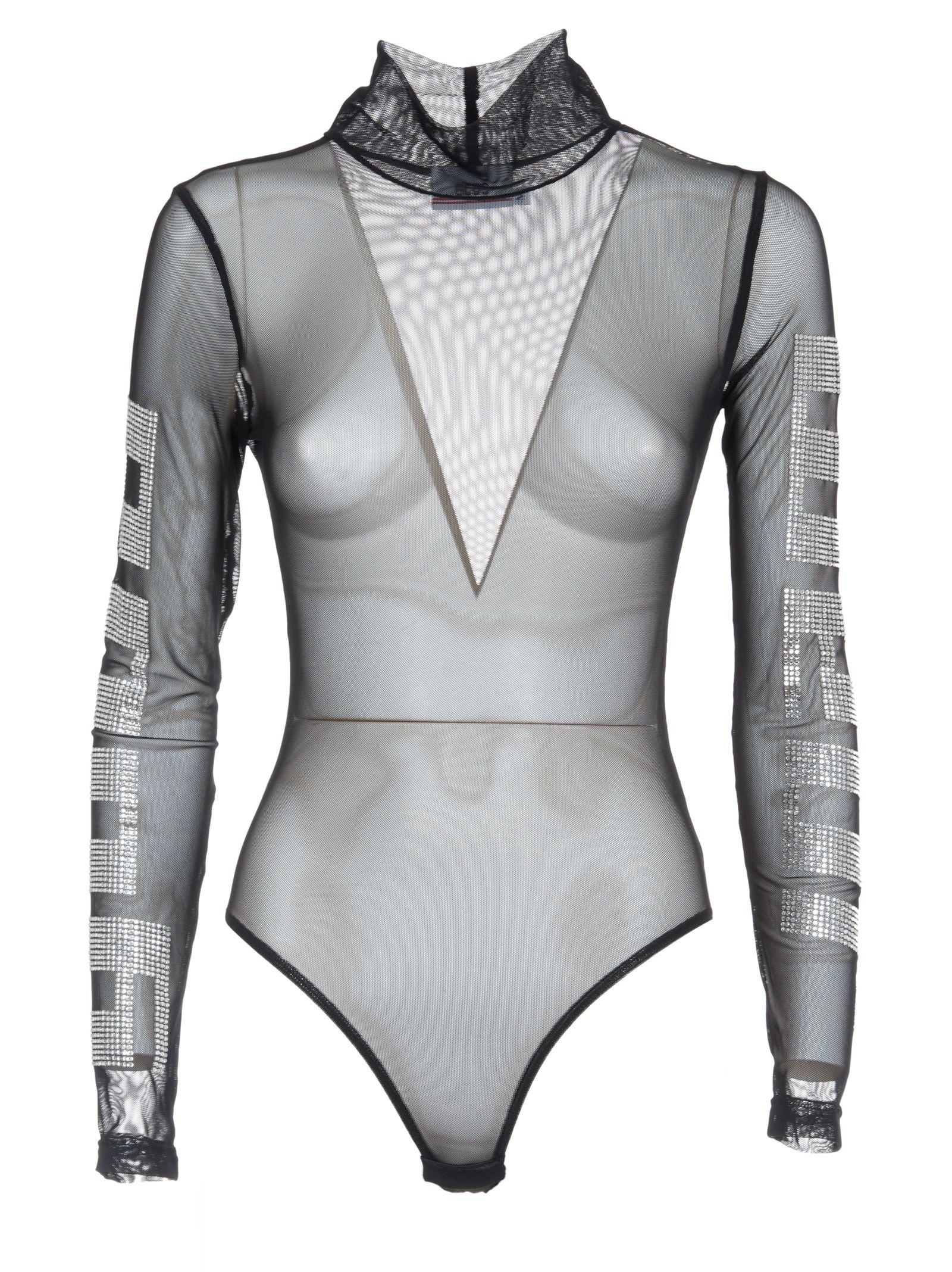 Gcds Stretch Knit Bodysuit