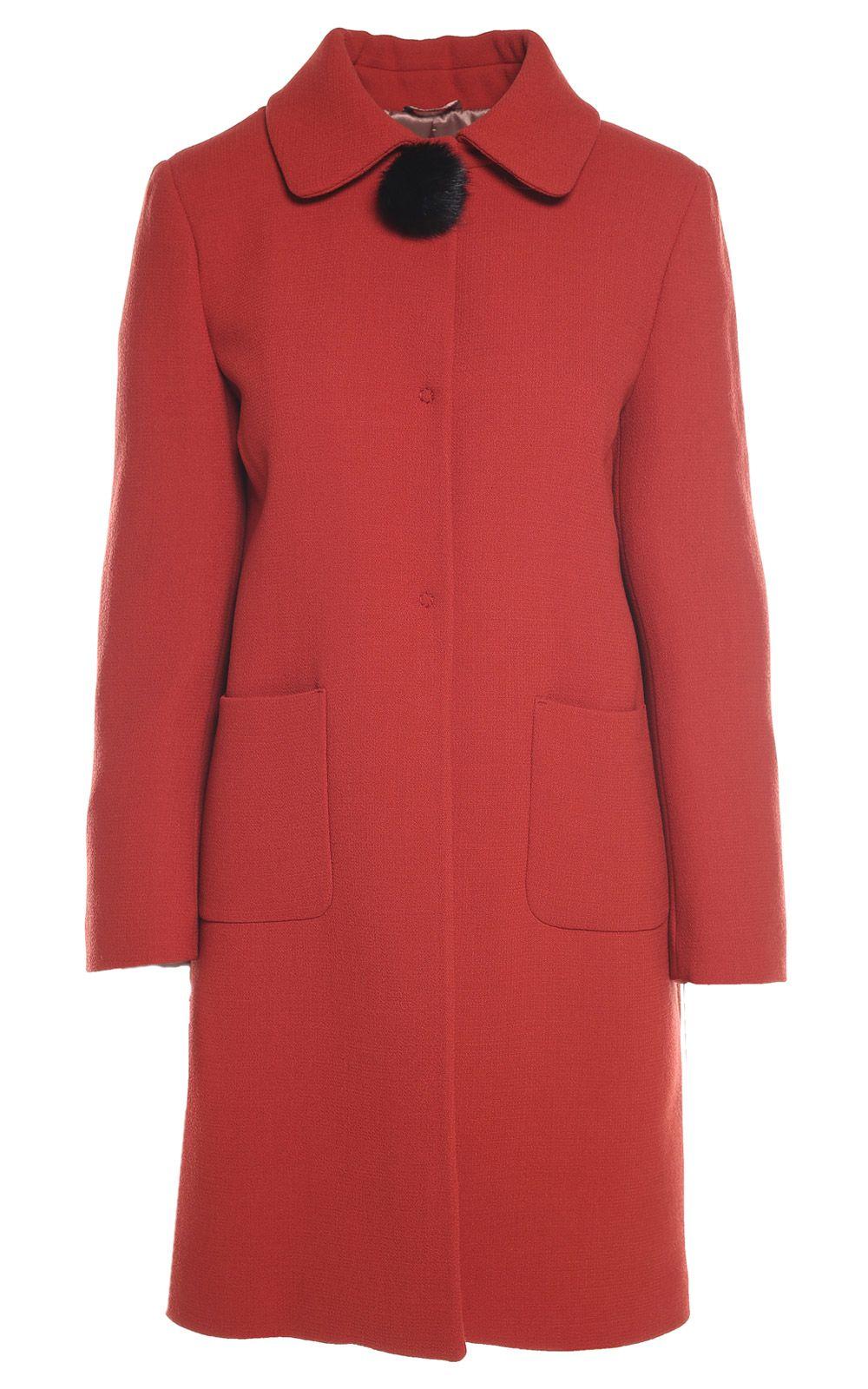 LAutre Chose Pom-pom Embellished Wool-crepe Coat