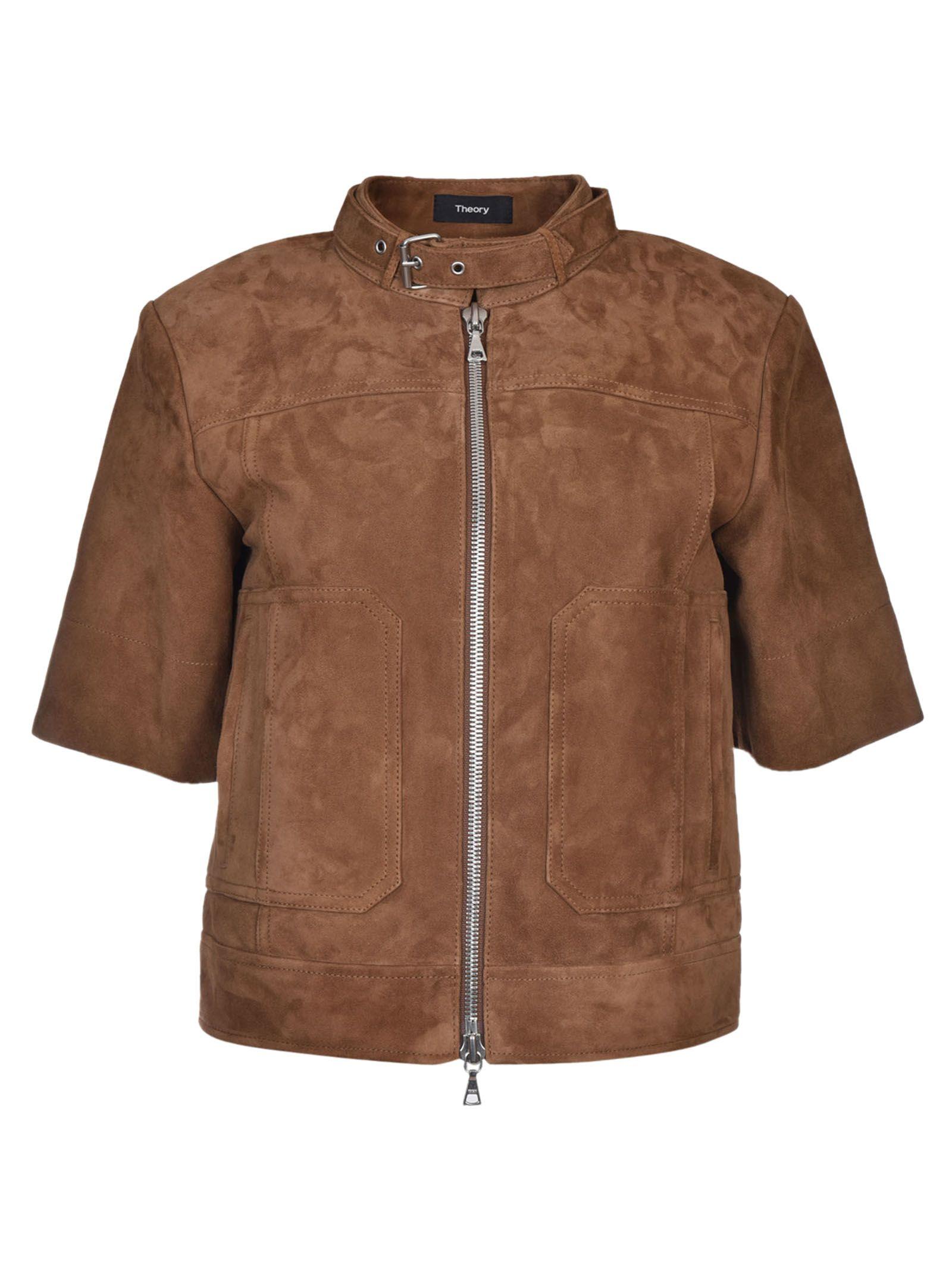 Theory Driftwood Biker Jacket