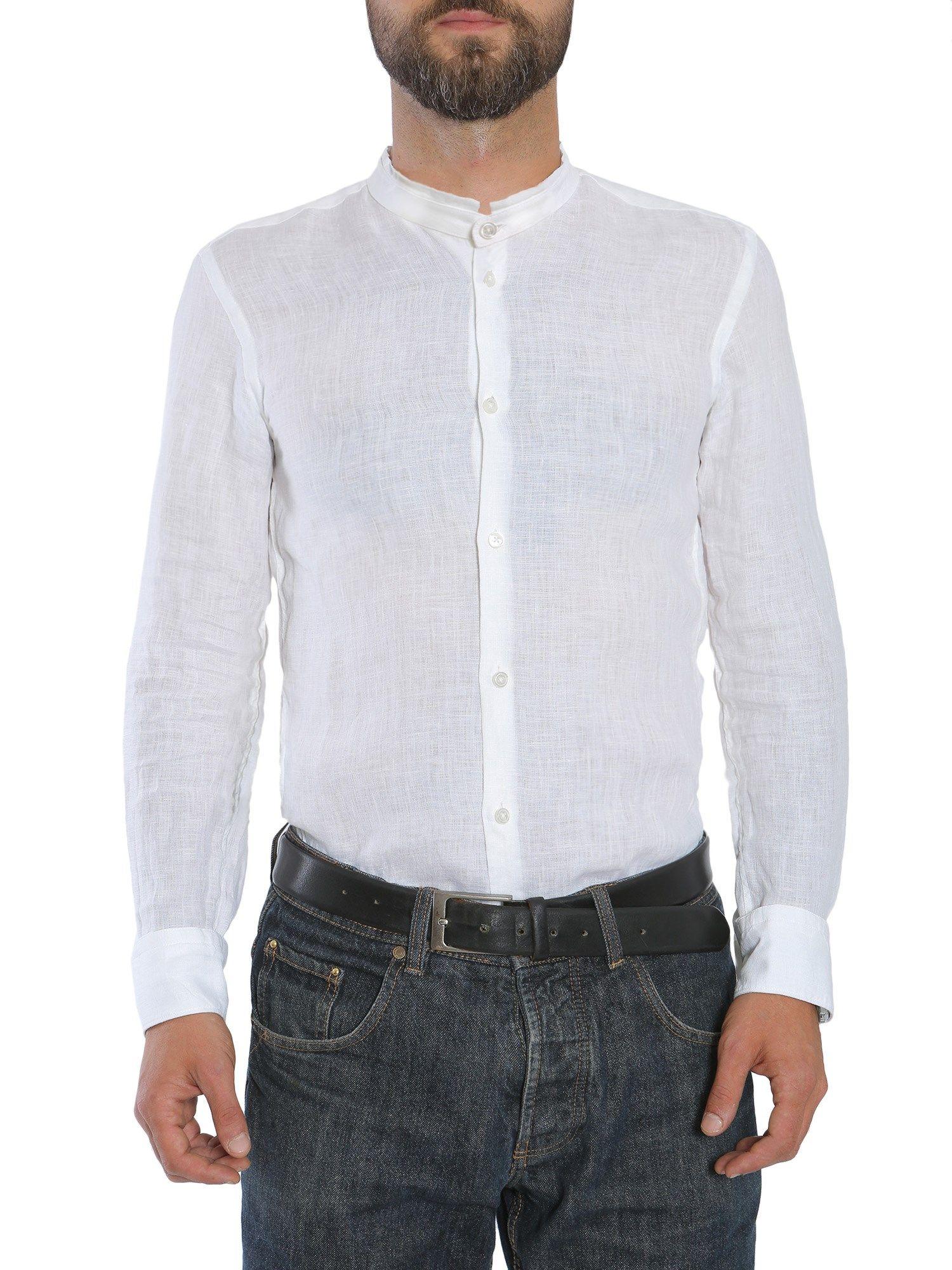 Hugo boss slim fit rab f shirt bianco men 39 s shirts for Hugo boss slim dress shirt