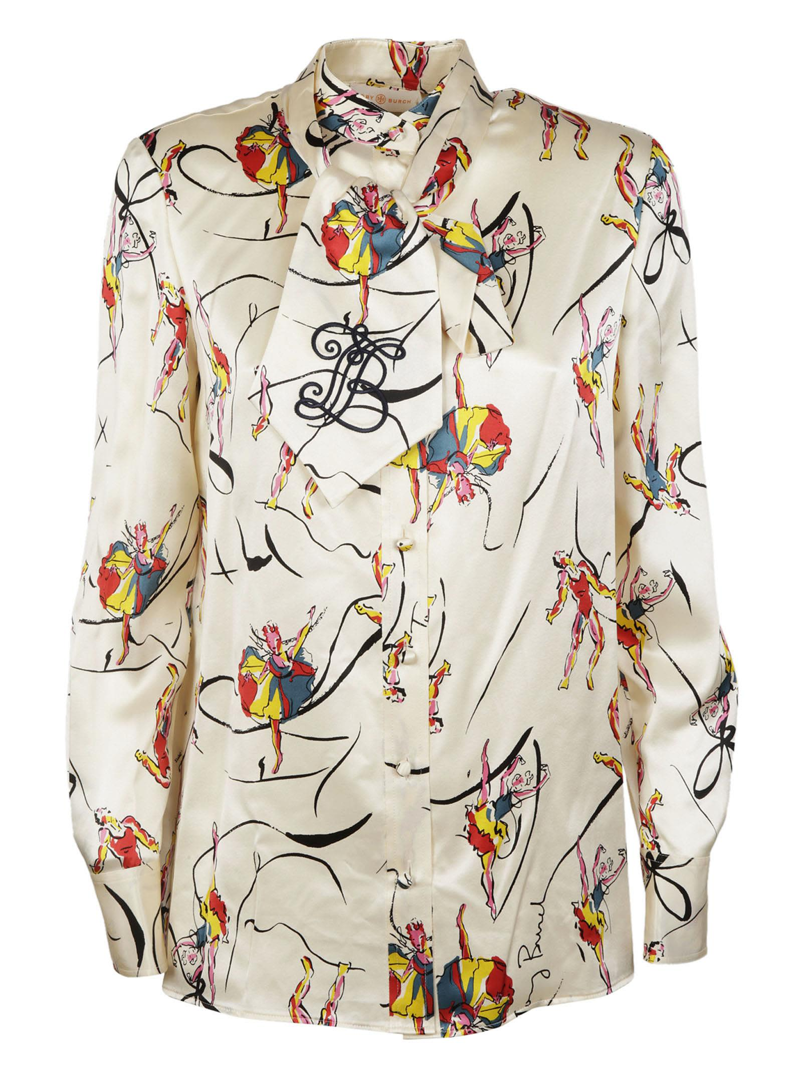 Tory Burch Dancer Print Blouse