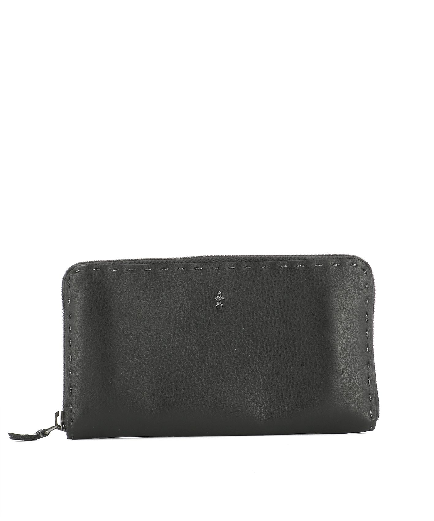 henry beguelin black leather wallet black womens