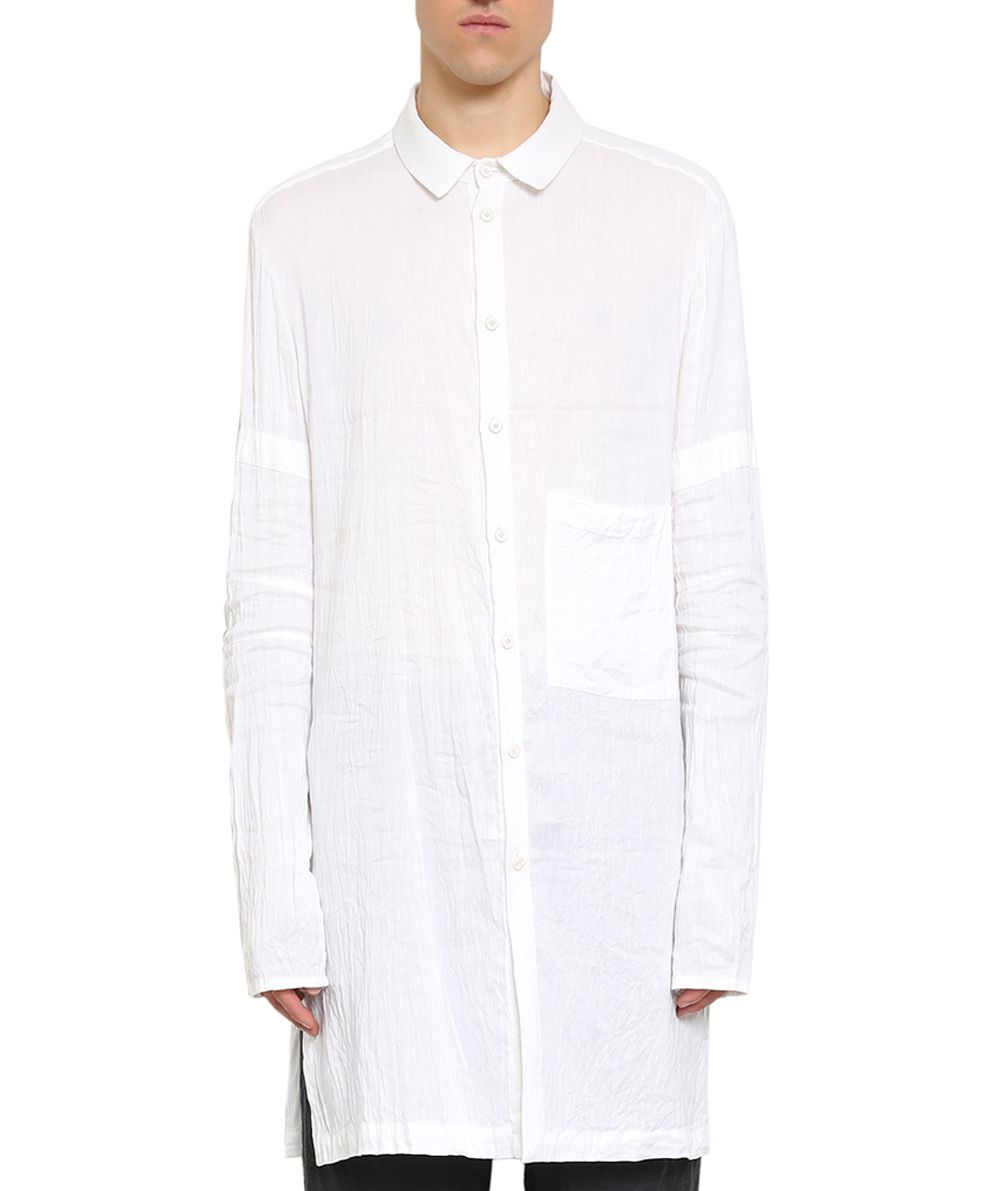 Lost & Found Cotton And Linen Oversized Shirt