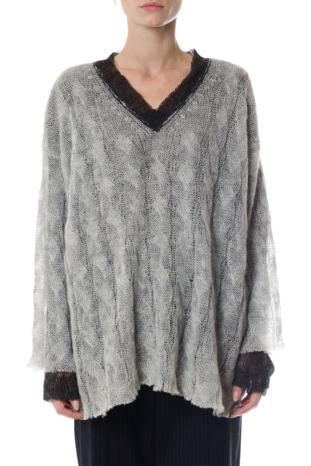 Maison Margiela  WOOL-ALPACA BLEND REVERSIBLE JUMPER