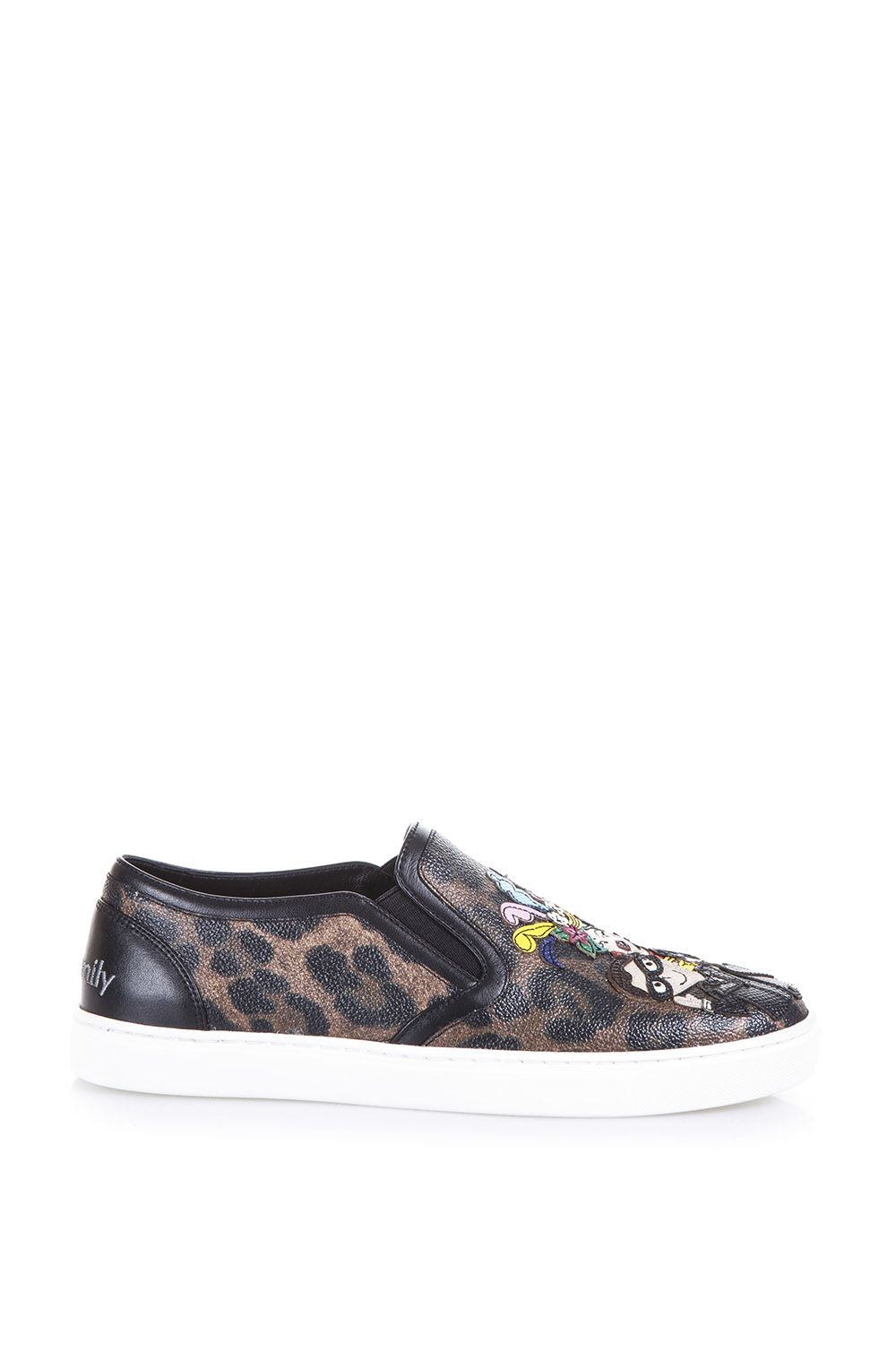 Dolce & Gabbana Designers Patch Leopard Printed Sneakers