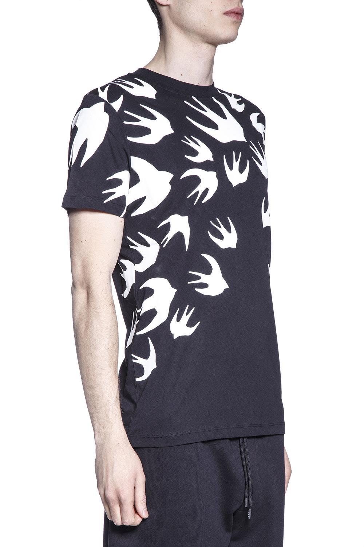 McQ Alexander McQueen Swallow Print Cotton T-shirt