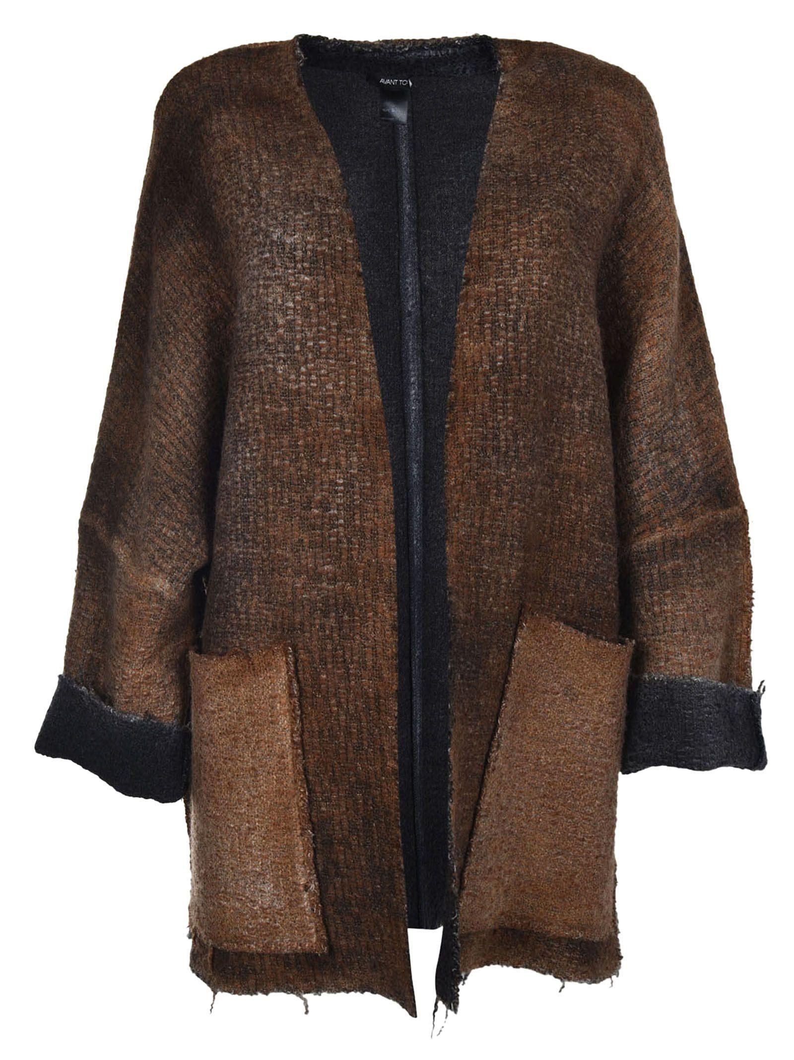Avant Toi - Avant Toi Kimono Sleeved Cardigan - Brown, Women's ...