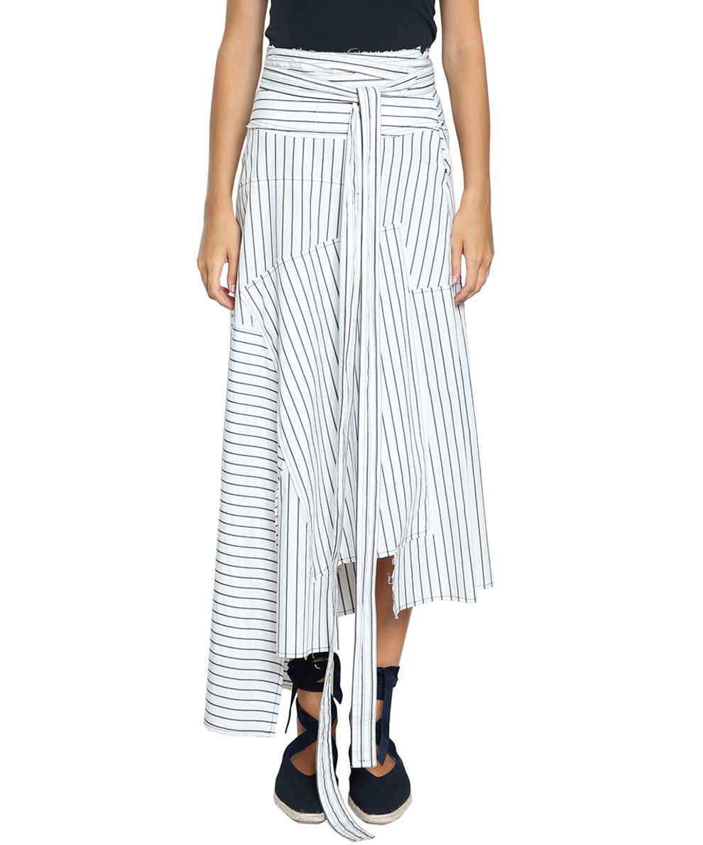 J.W. Anderson Patchwork Cotton Skirt