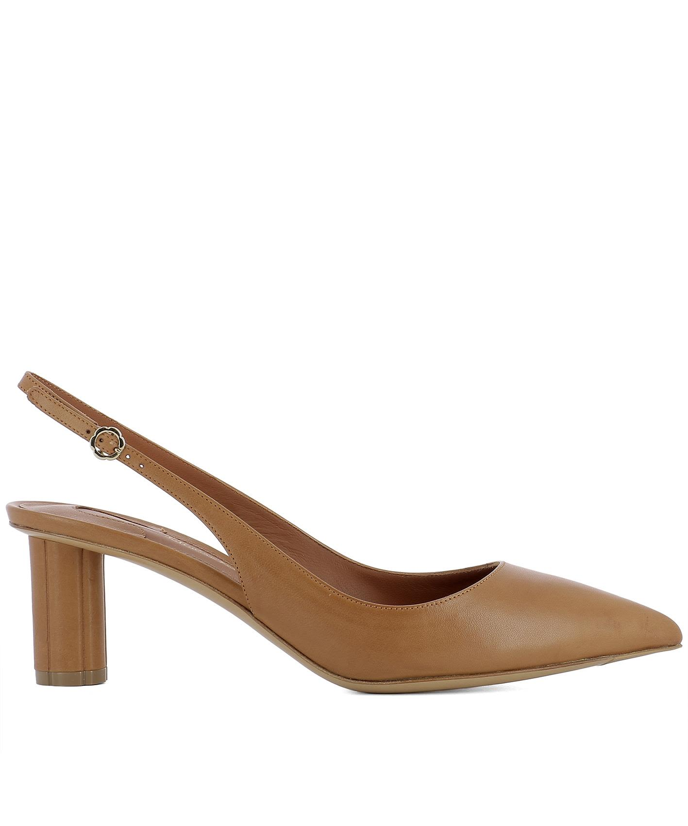 Brown Leather Buti 55 Pumps