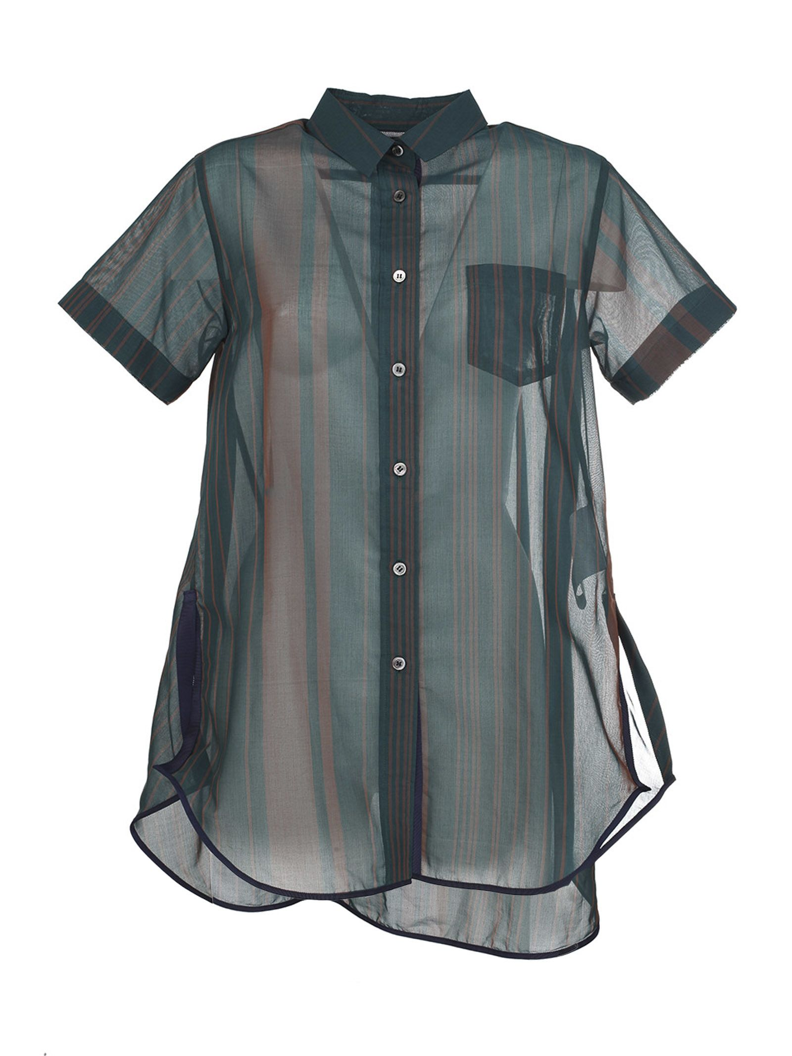 Sacai Random Stripe Organza Shirt