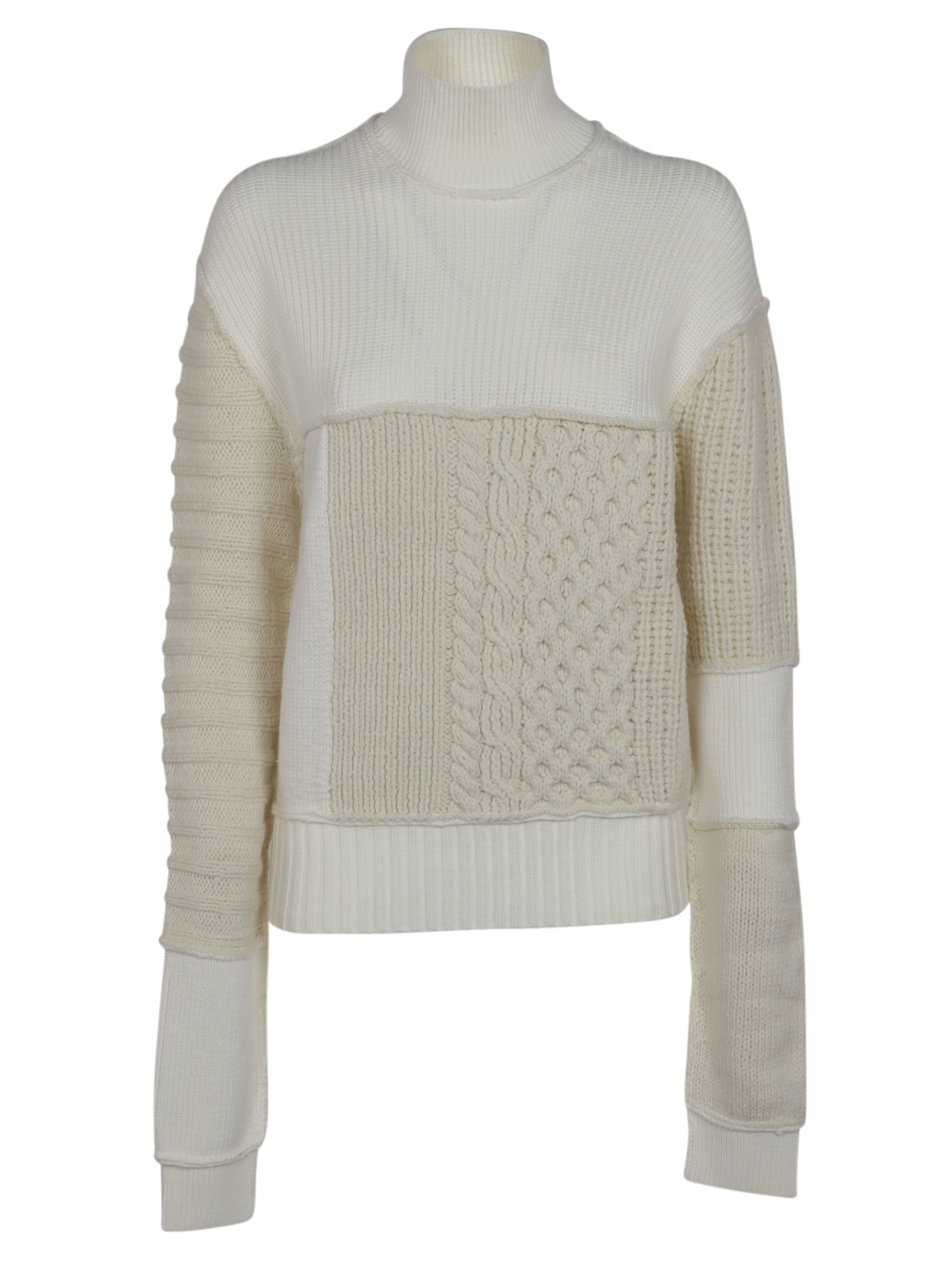 Alexander Mcqueen Cable Mix Jumper