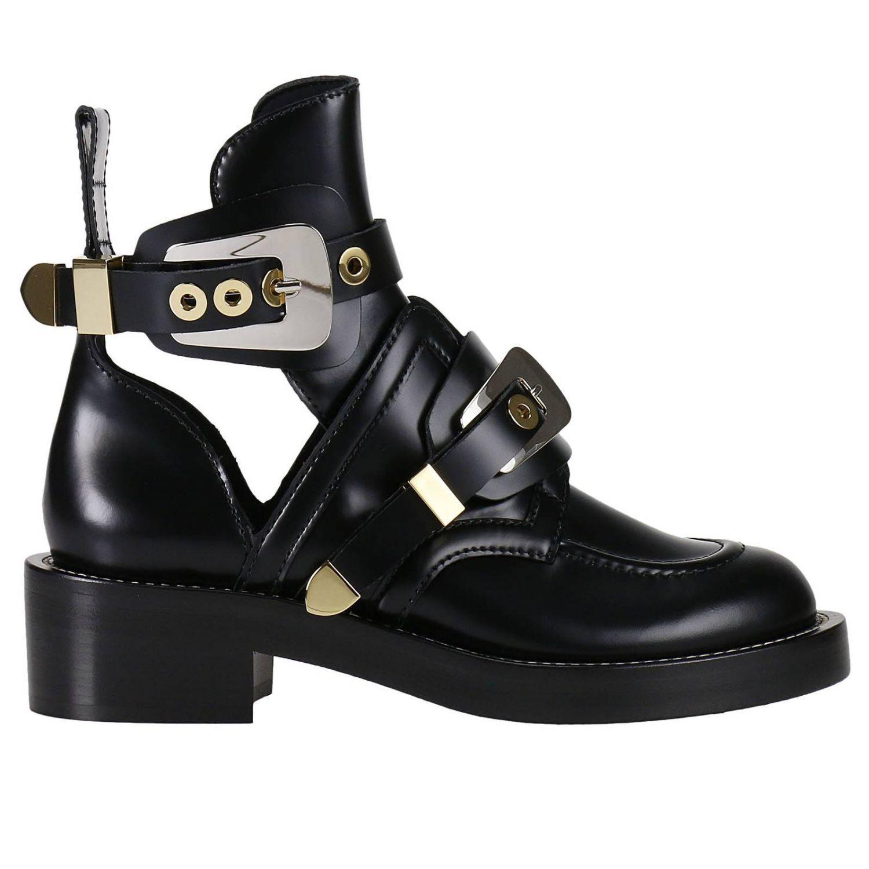 balenciaga flat booties shoes balenciaga black