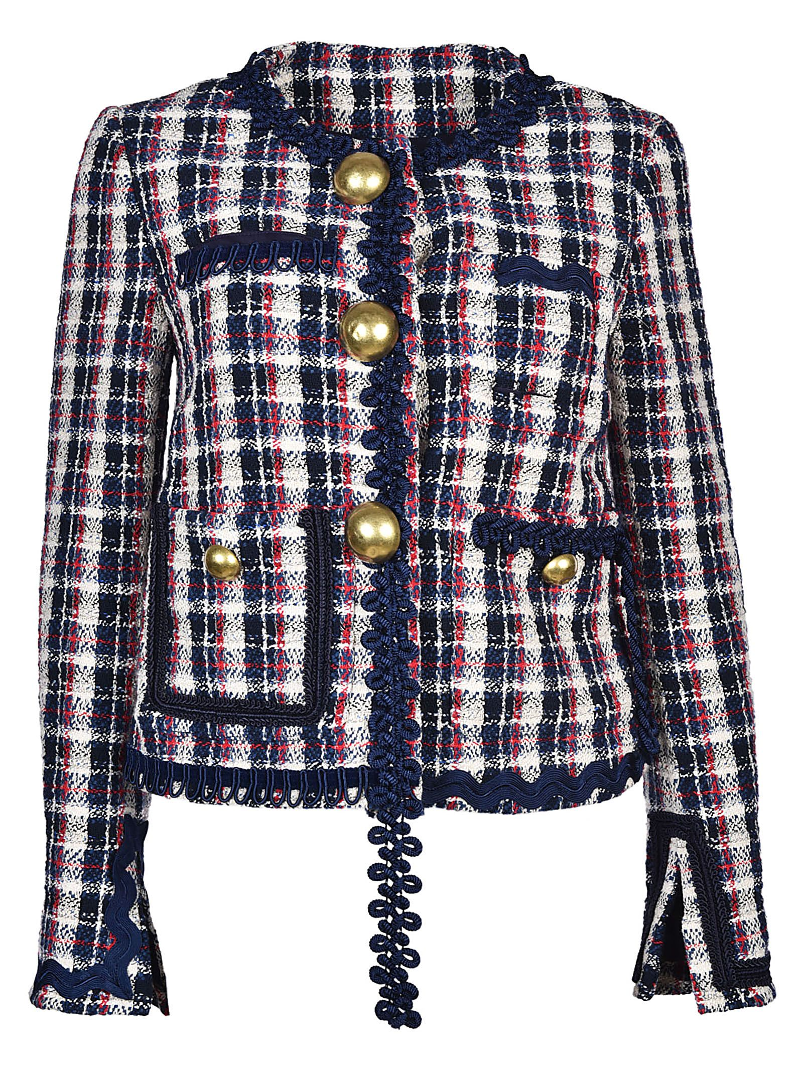Erika Cavallini Semi-Couture Checked Jacket