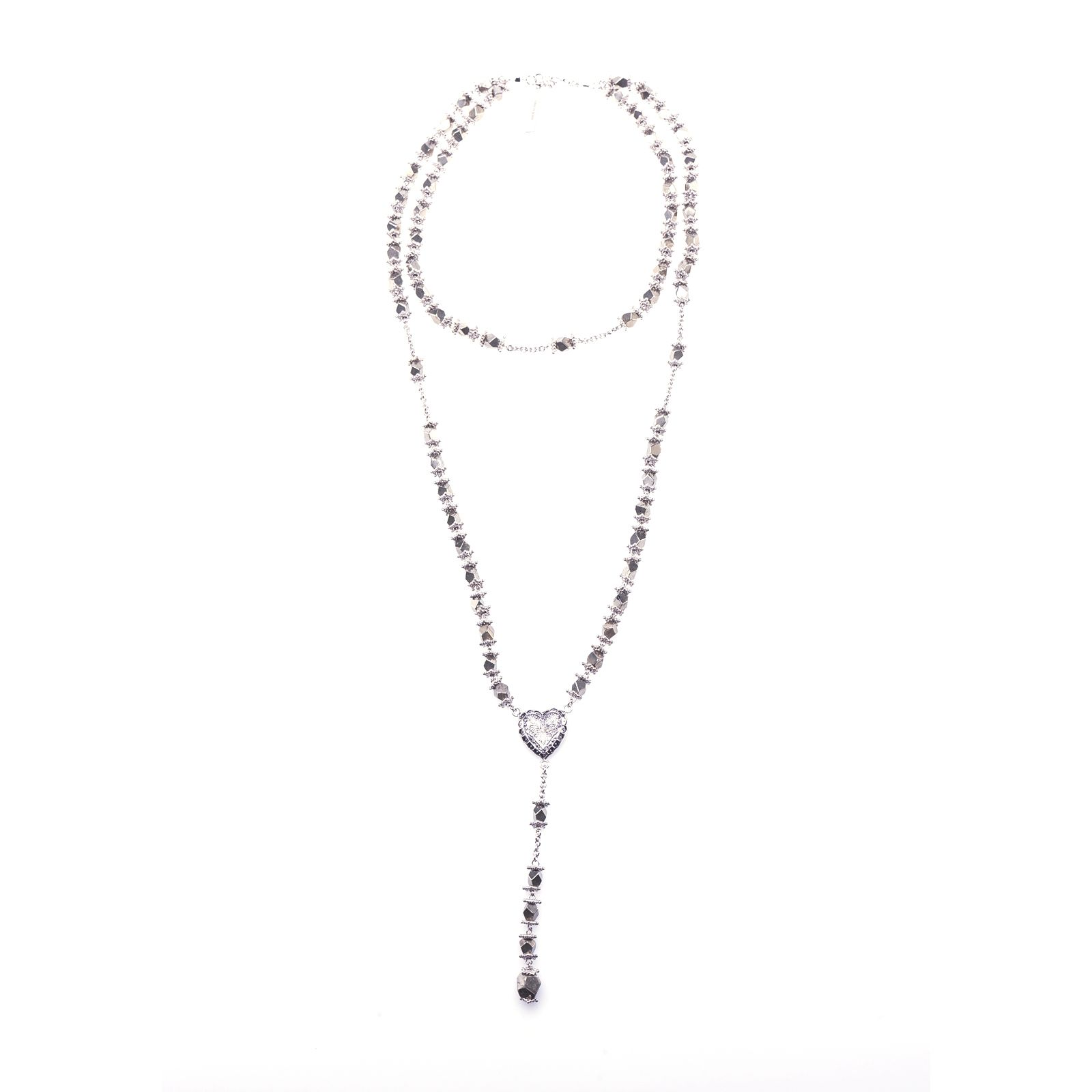 Givenchy Faceted Stone Rosary Necklace