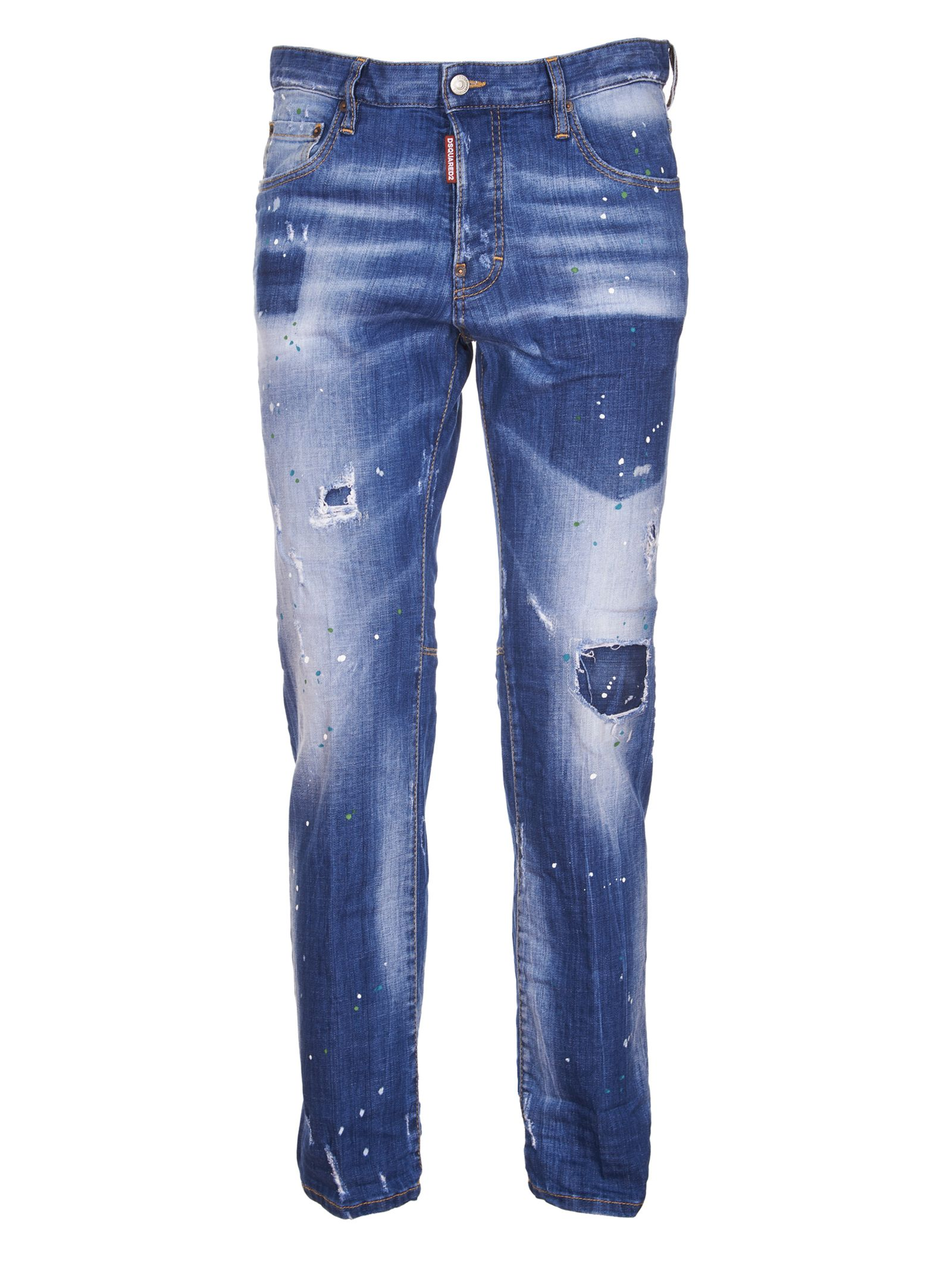 Dsquared2 Faded Straight Jeans