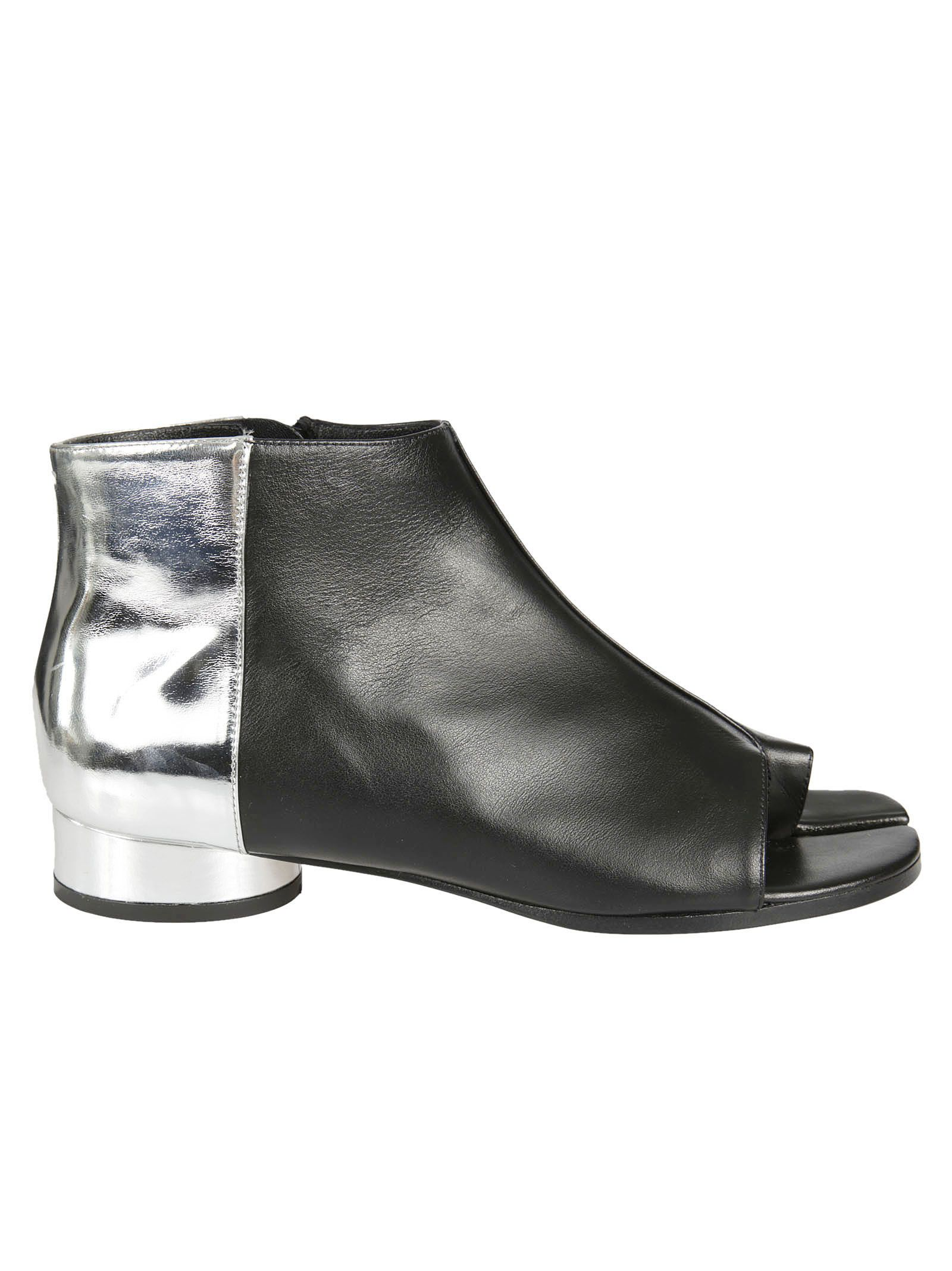 Maison Margiela Open Toe Color Block Boots