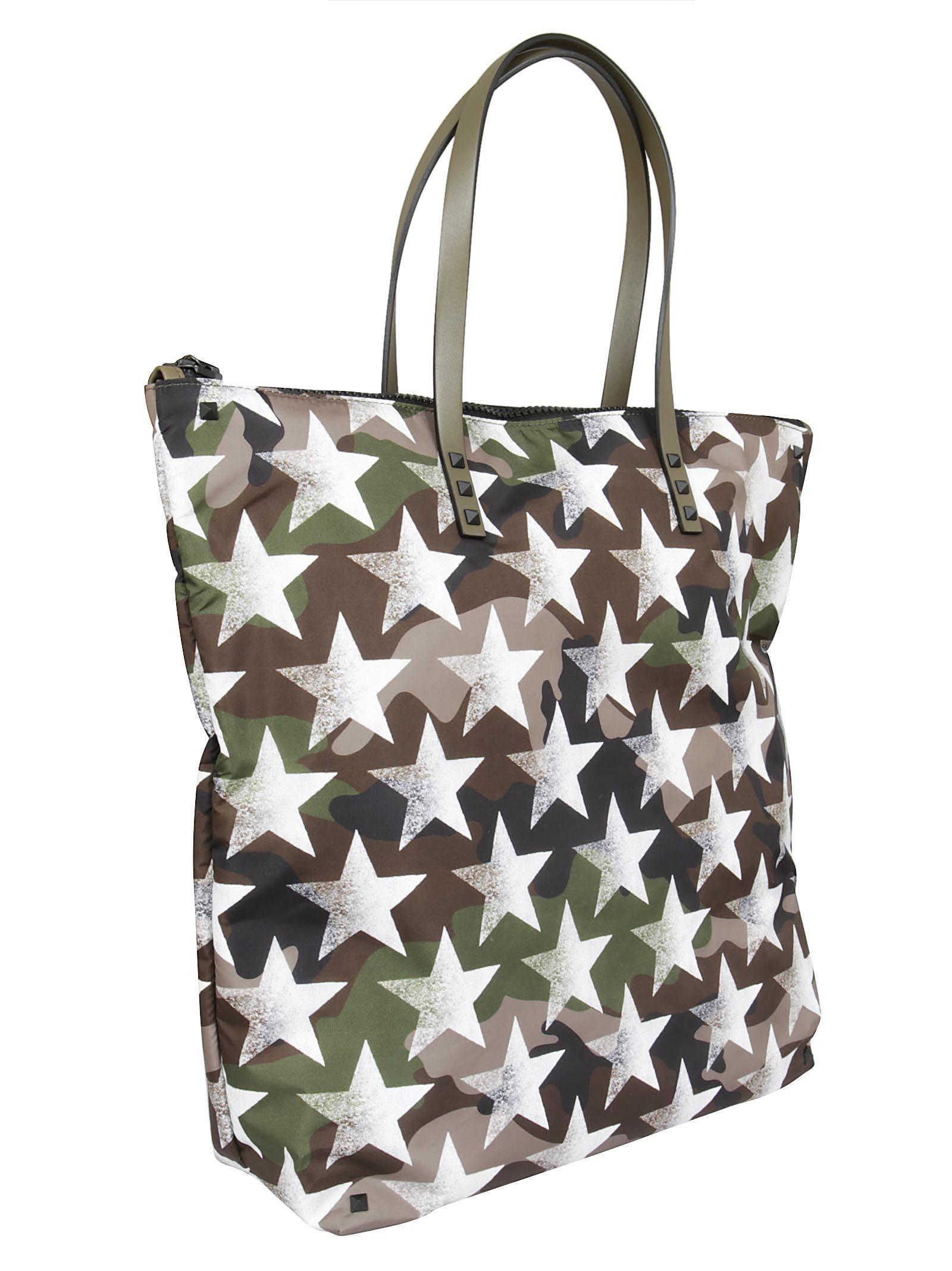 Valentino Garavani Rockstud Camustars Shopper Bag