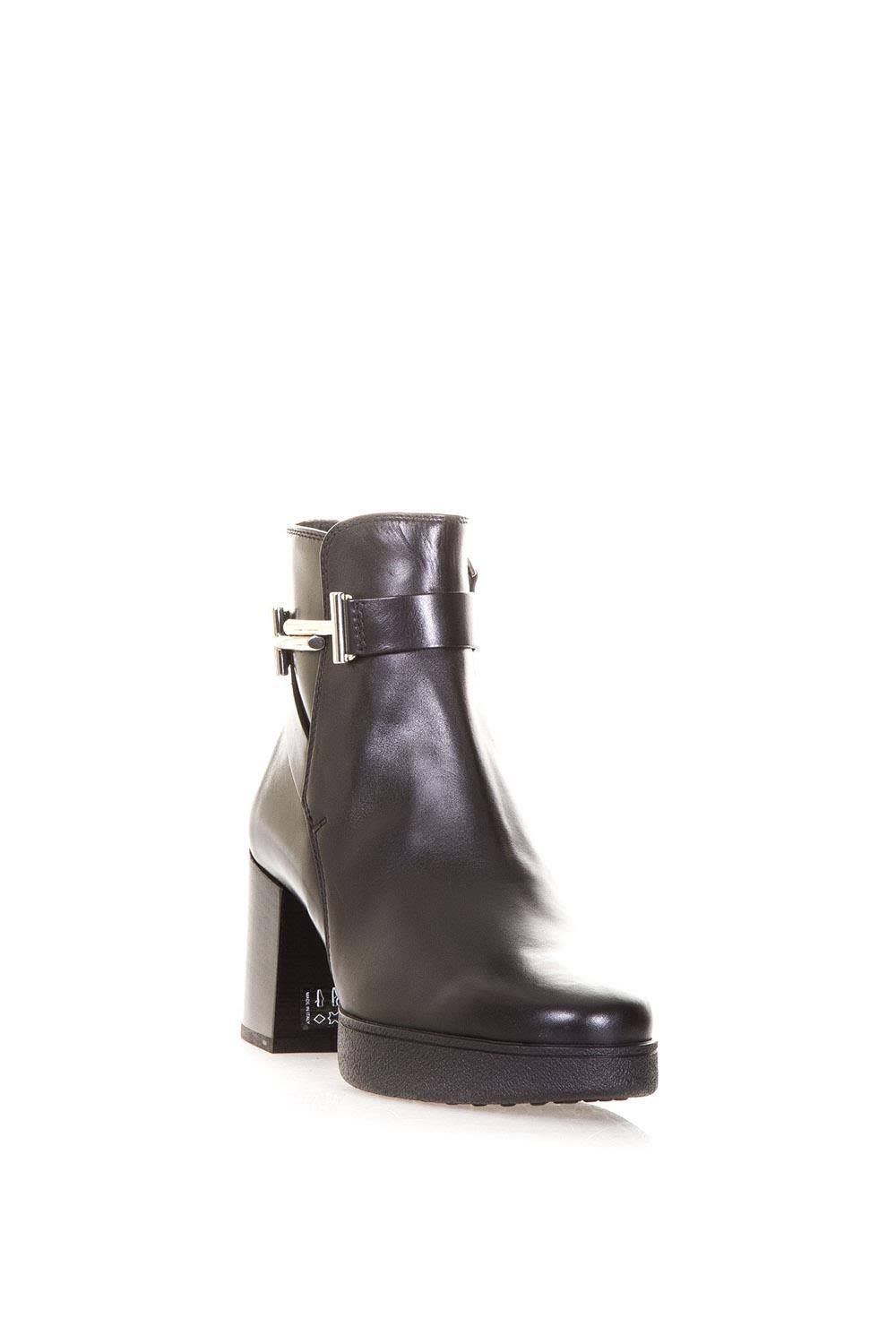 Tods Leather Ankle Boots With Tods Double T