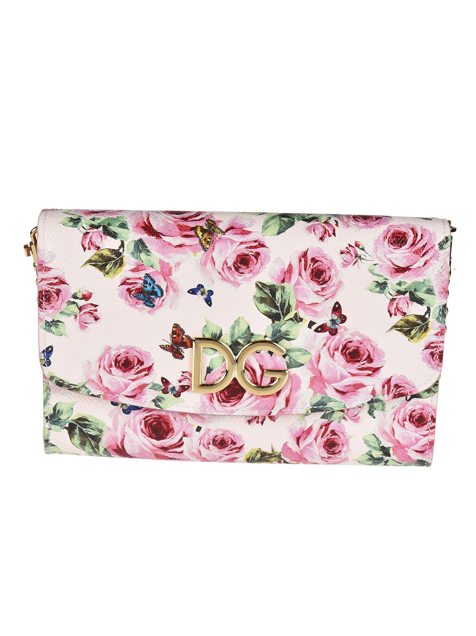 Dolce & Gabbana Rose Print Shoulder Bag