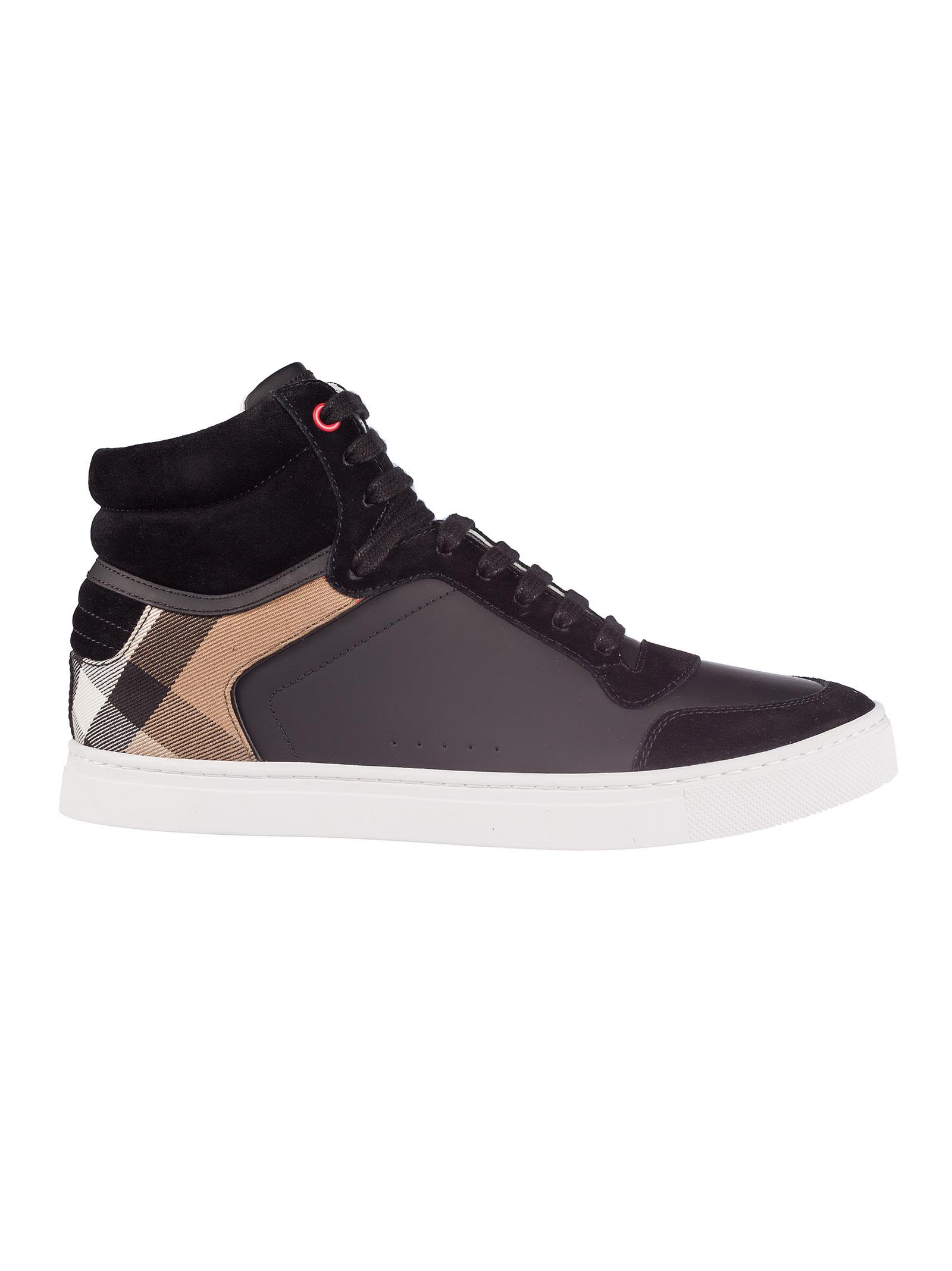 Burberry Check Hi-top Sneakers