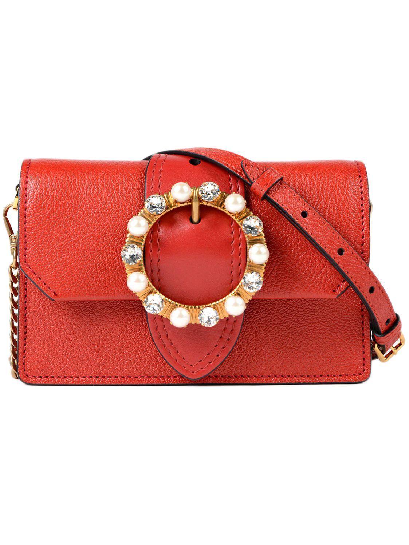 07d6468d4822 Miu Miu Madras+Soft Calf Belt Bag In 68Z Fuoco