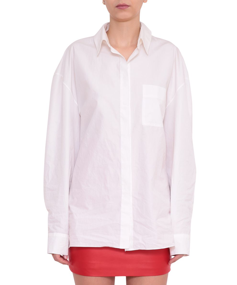 Alexandre Vauthier Popelin Cotton Shirt