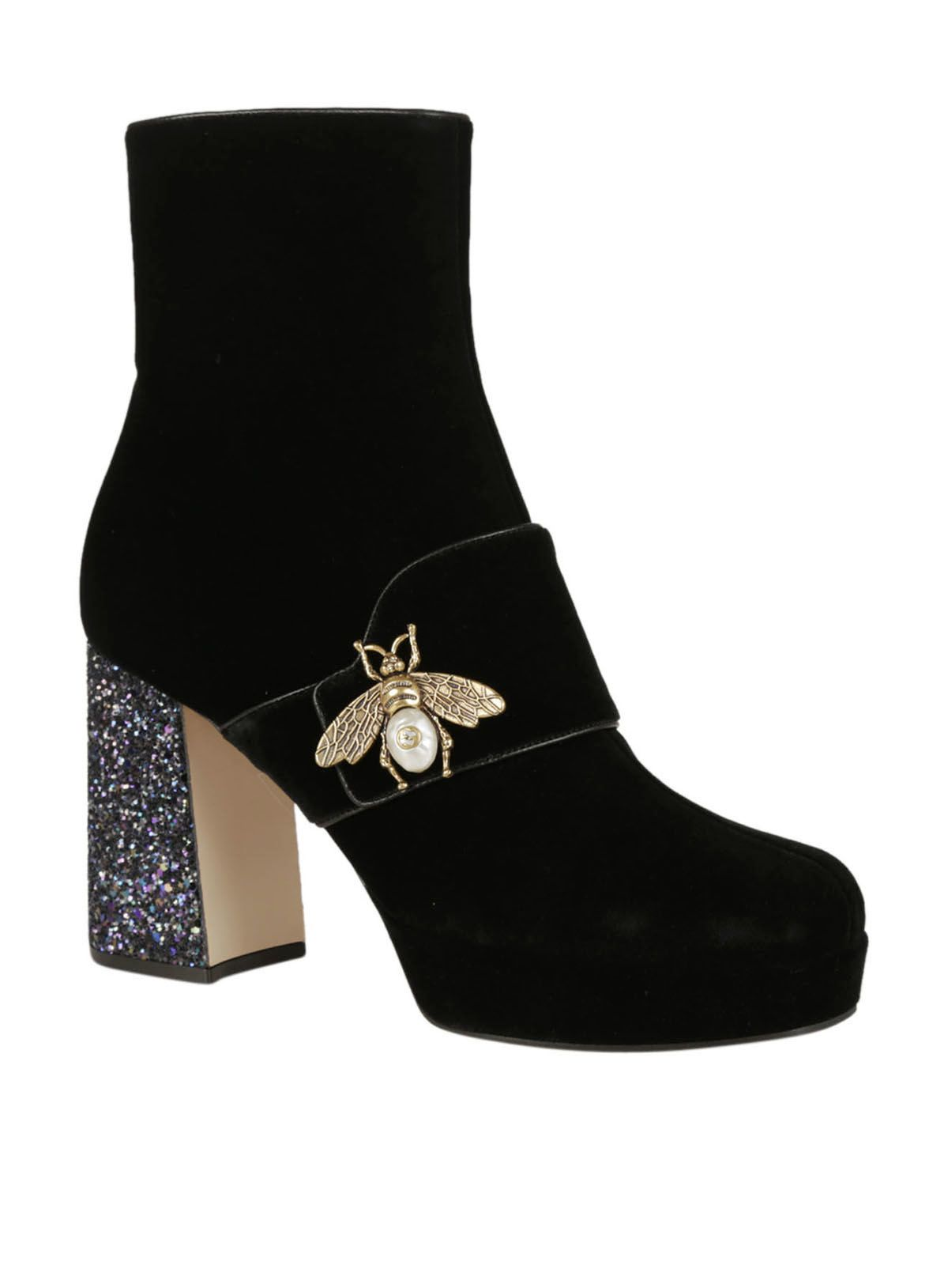 Gucci - Gucci Bee Ankle Boots