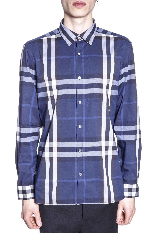 Burberry Check Printed Cotton Shirt