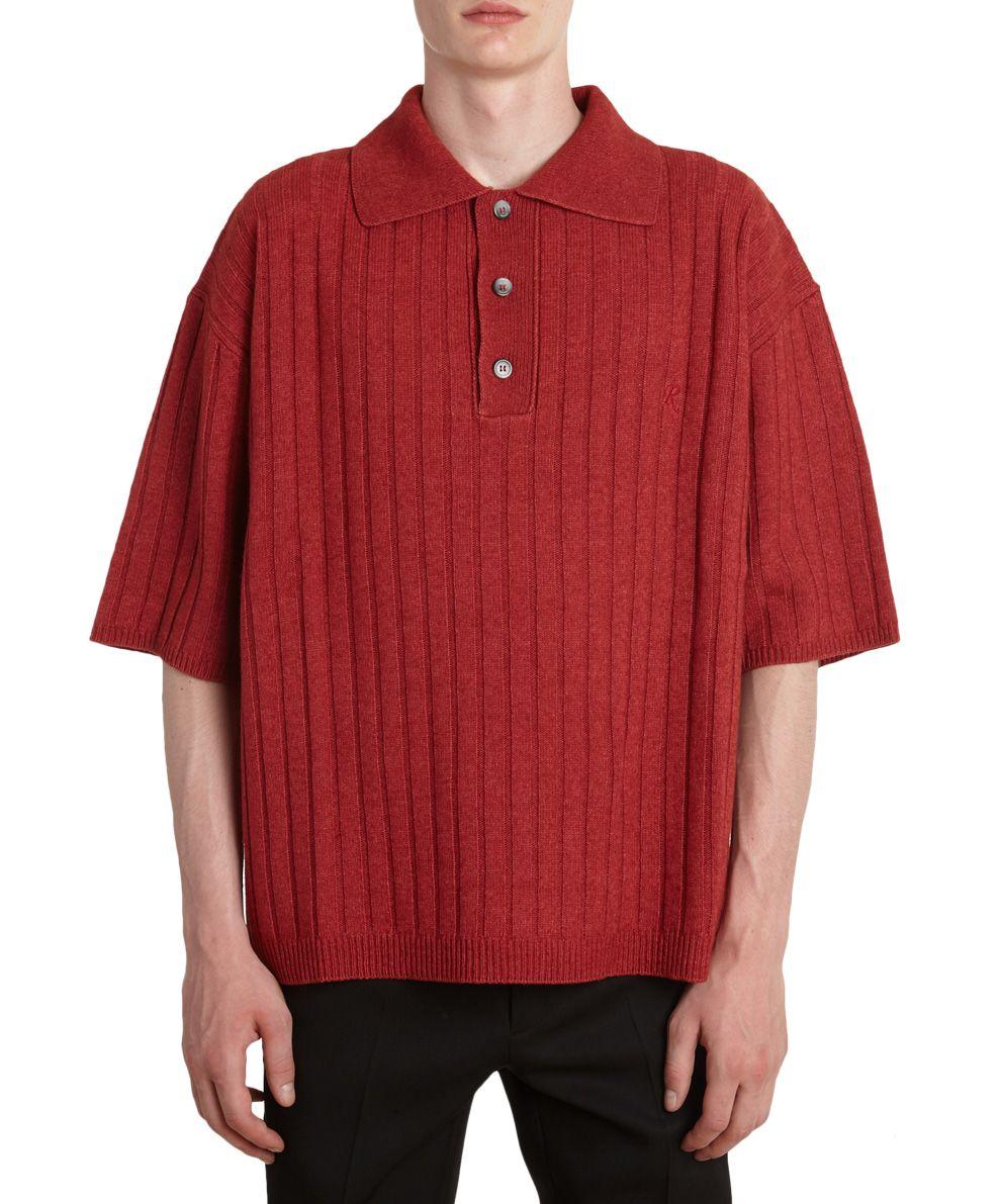 Raf Simons Cotton And Wool Polo Shirt