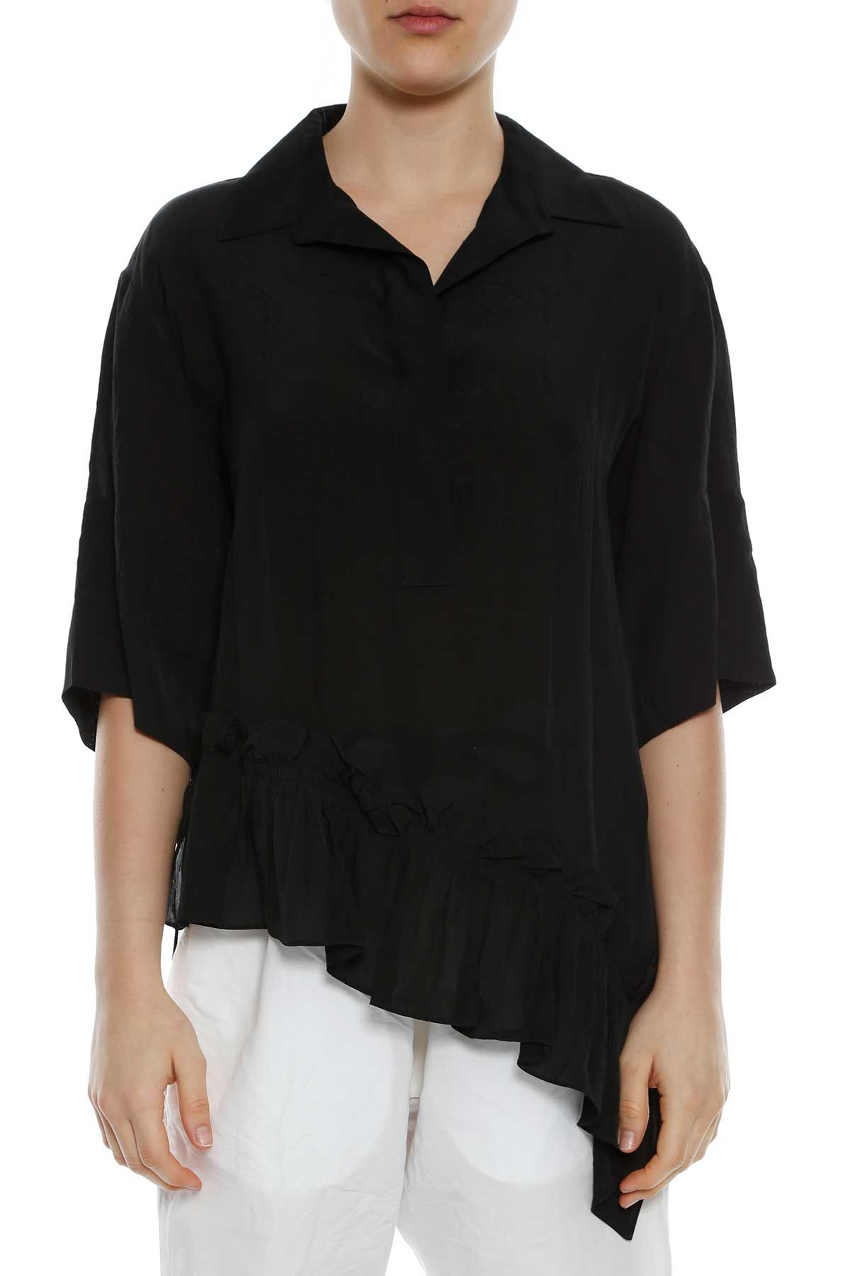 Marni Polo Blouse With Ruffle
