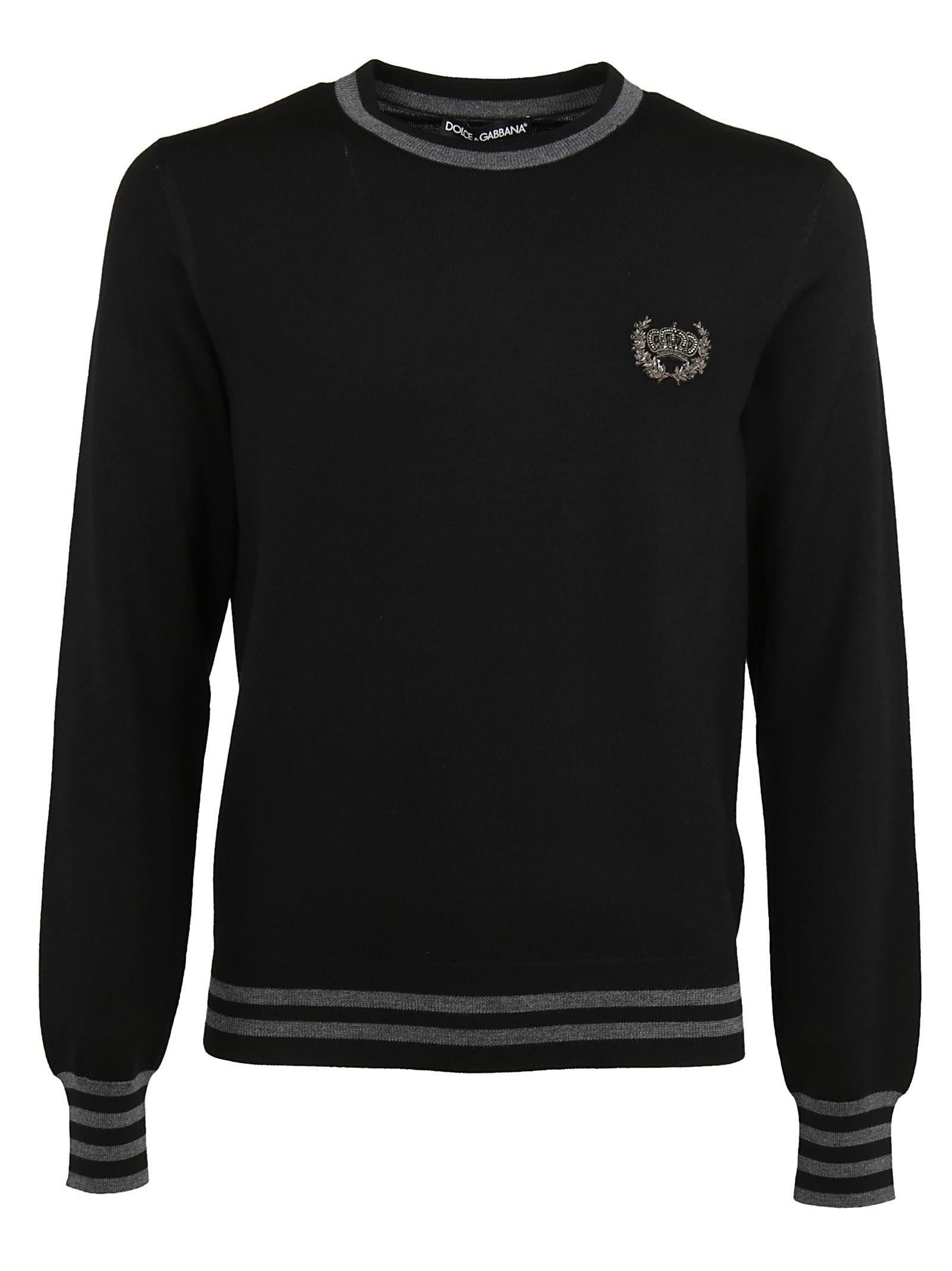 Dolce & Gabbana Embroidered Crown Sweater