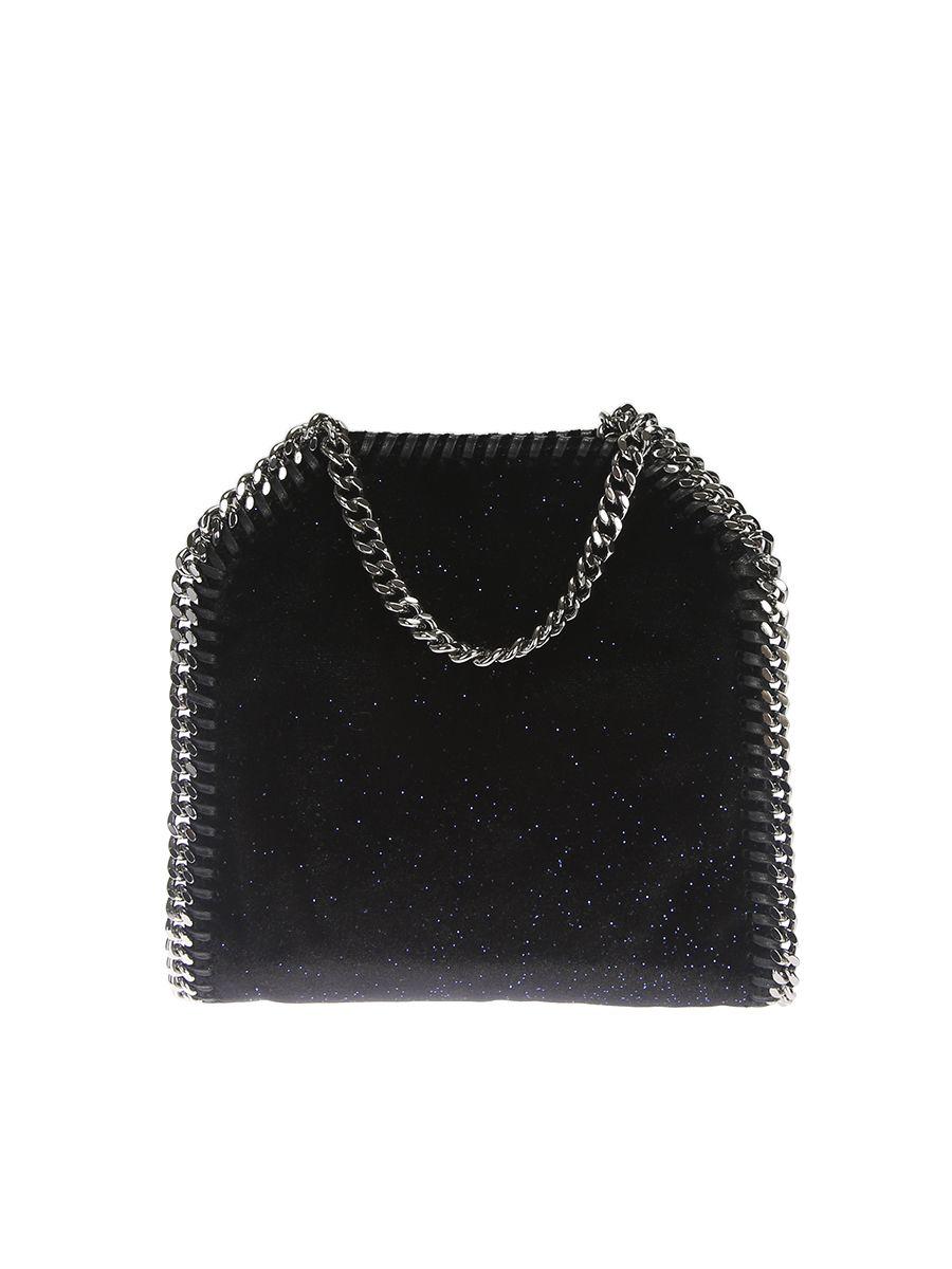 Glittered Velvet Tiny Falabella Shoulderbag