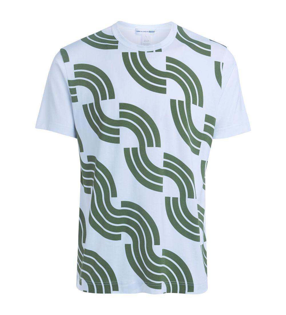 Comme Des Garçons Shirt Green Printed T-shirt