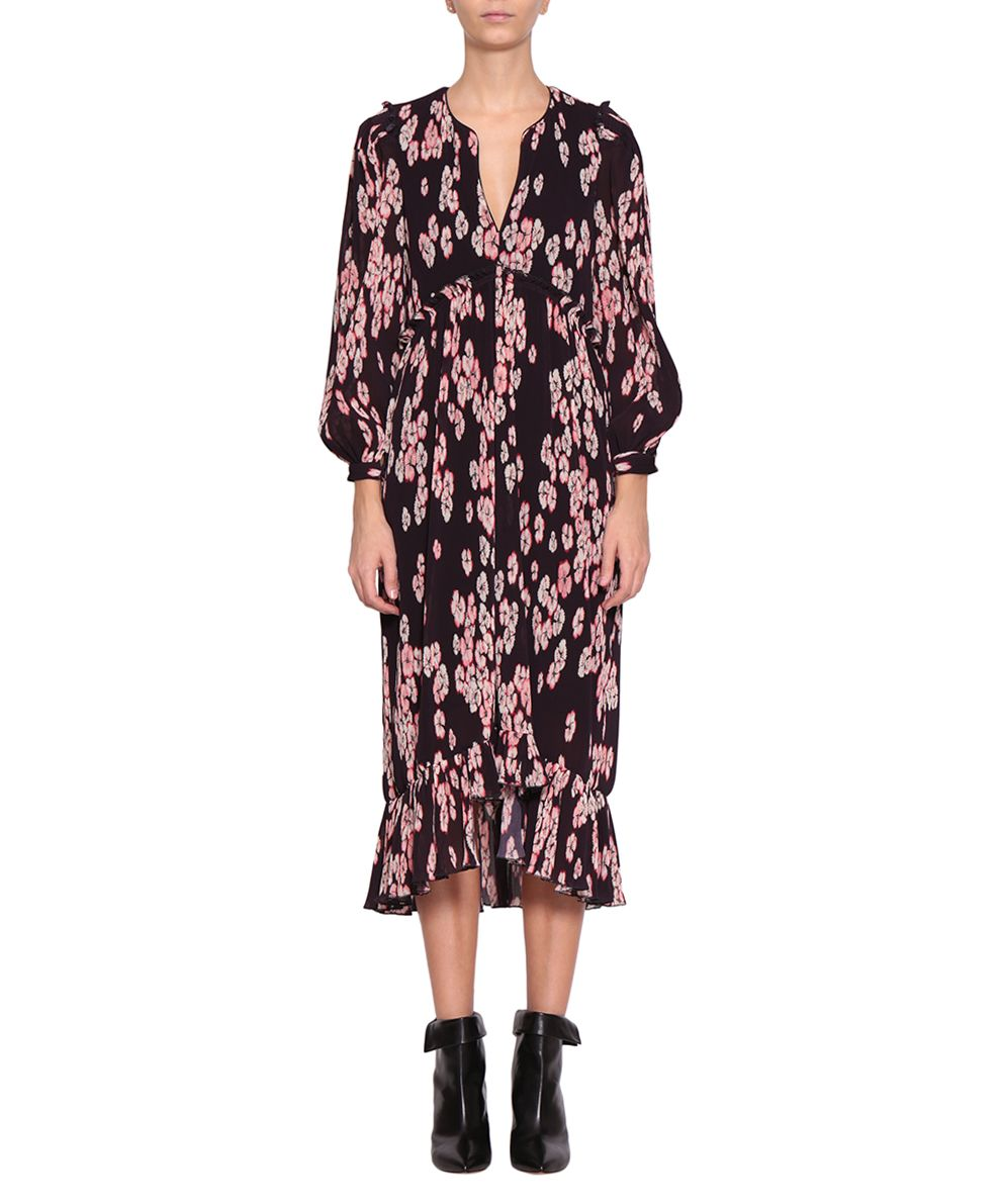 Isabel marant isabel marant wenda crepe dress viola for Isabel marant shirt dress