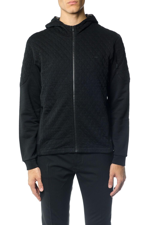 Z Zegna Quilted Cotton Hoodie Sweatshirt