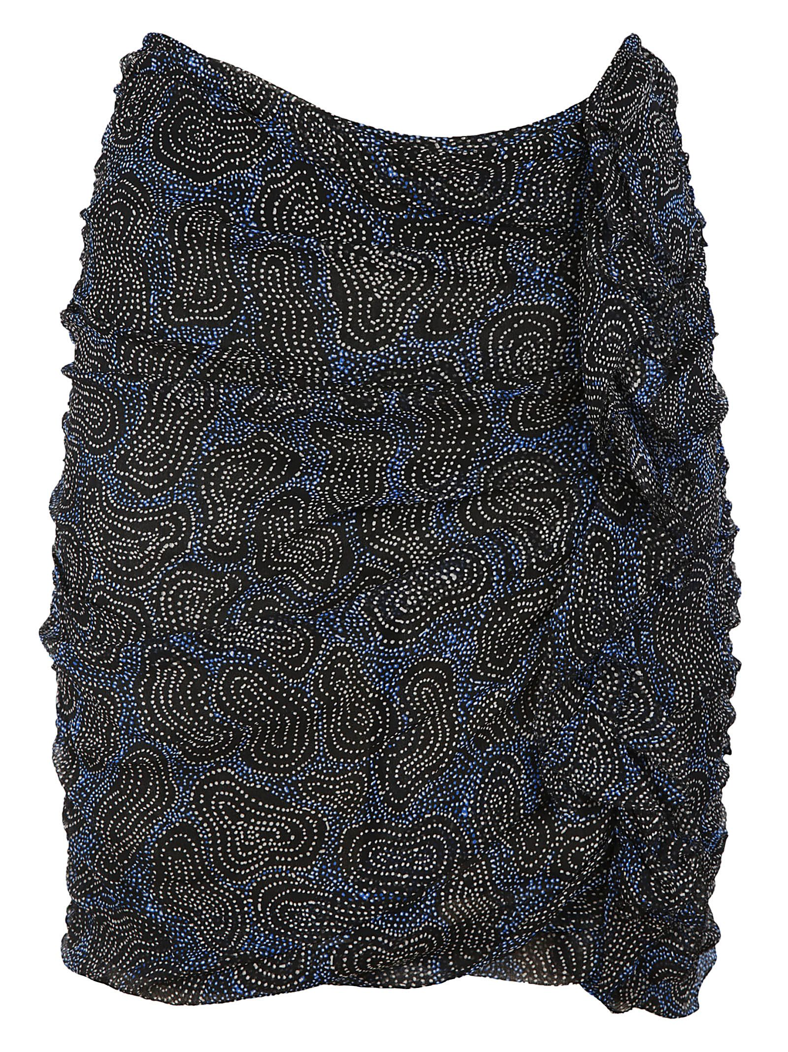 Isabel Marant Edna Printed Chiffon Skirt