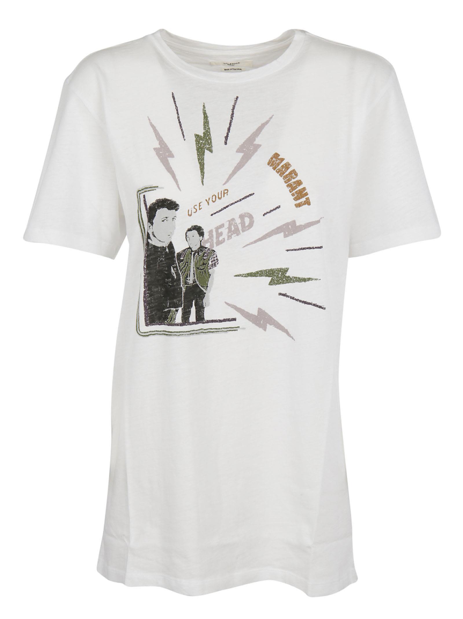 Isabel Marant Logo Print T Shirt Modesens
